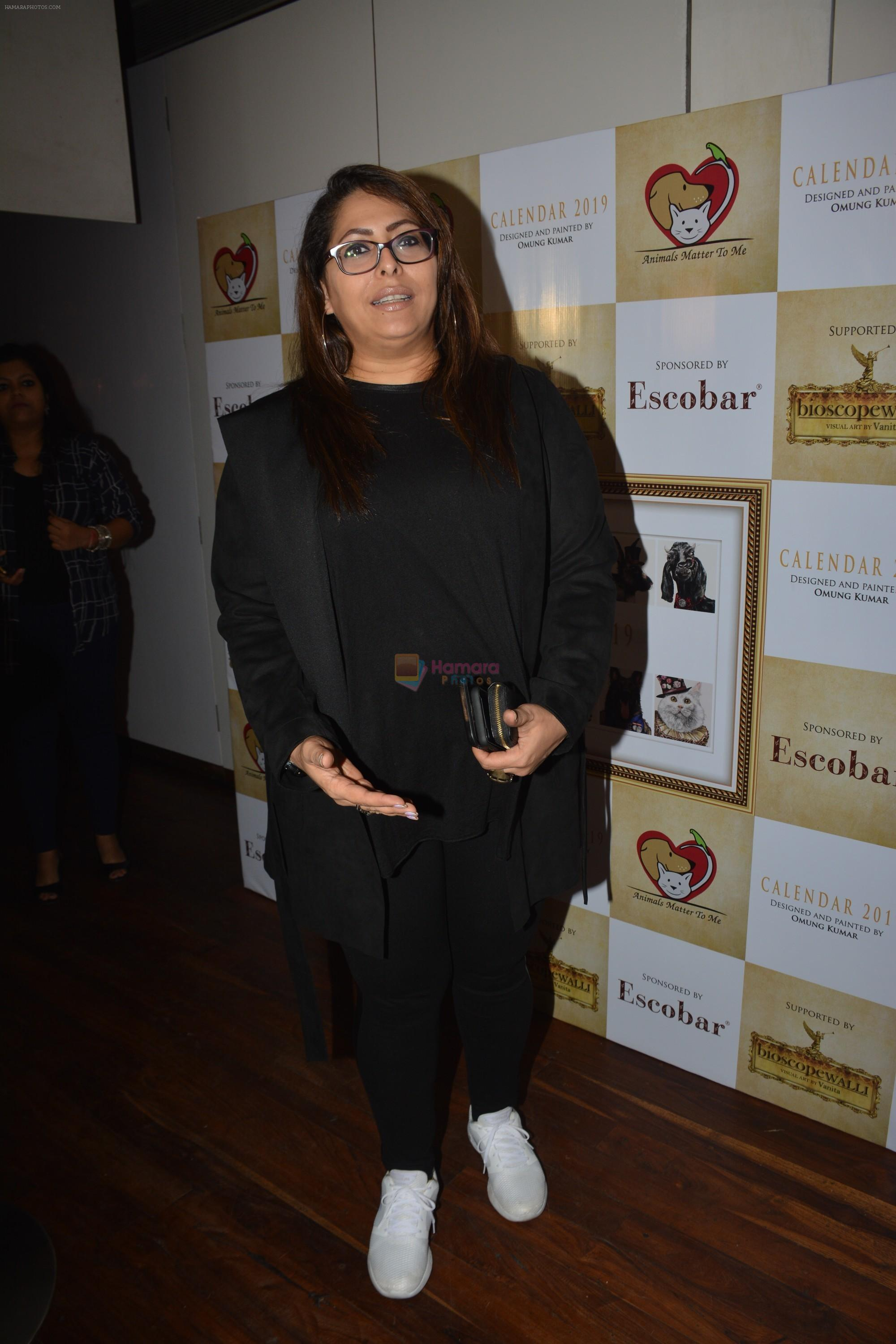 Geeta Kapoor at the launch of Hand Painted Animal Calendar By Filmmaker Omung Kumar on 21st Nov 2018