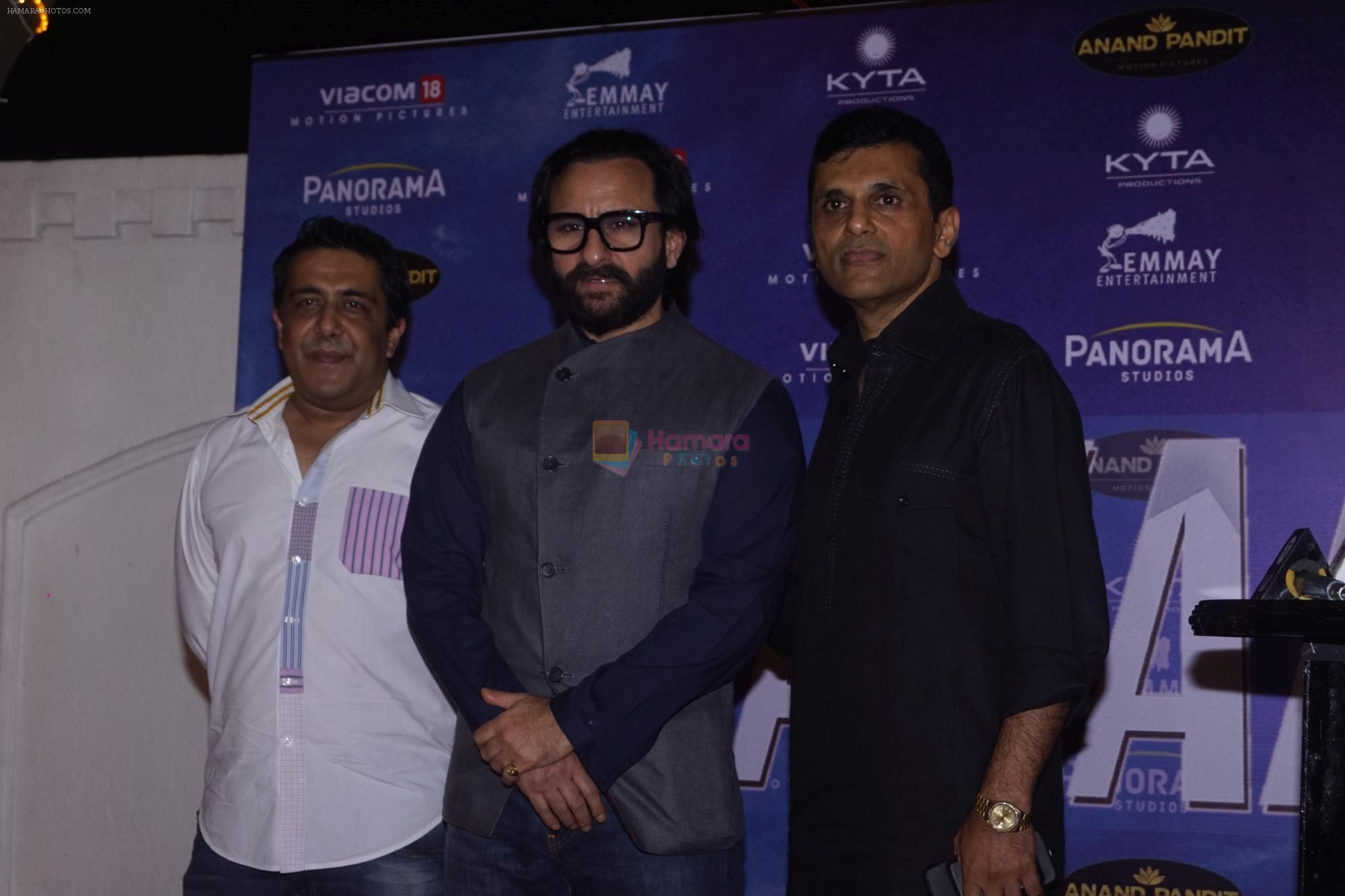 Saif Ali Khan, Gauravv K. Chawla,Anand Pandit  at Anand pandit Hosted Success Party of Hindi Film Baazaar on 21st Nov 2018