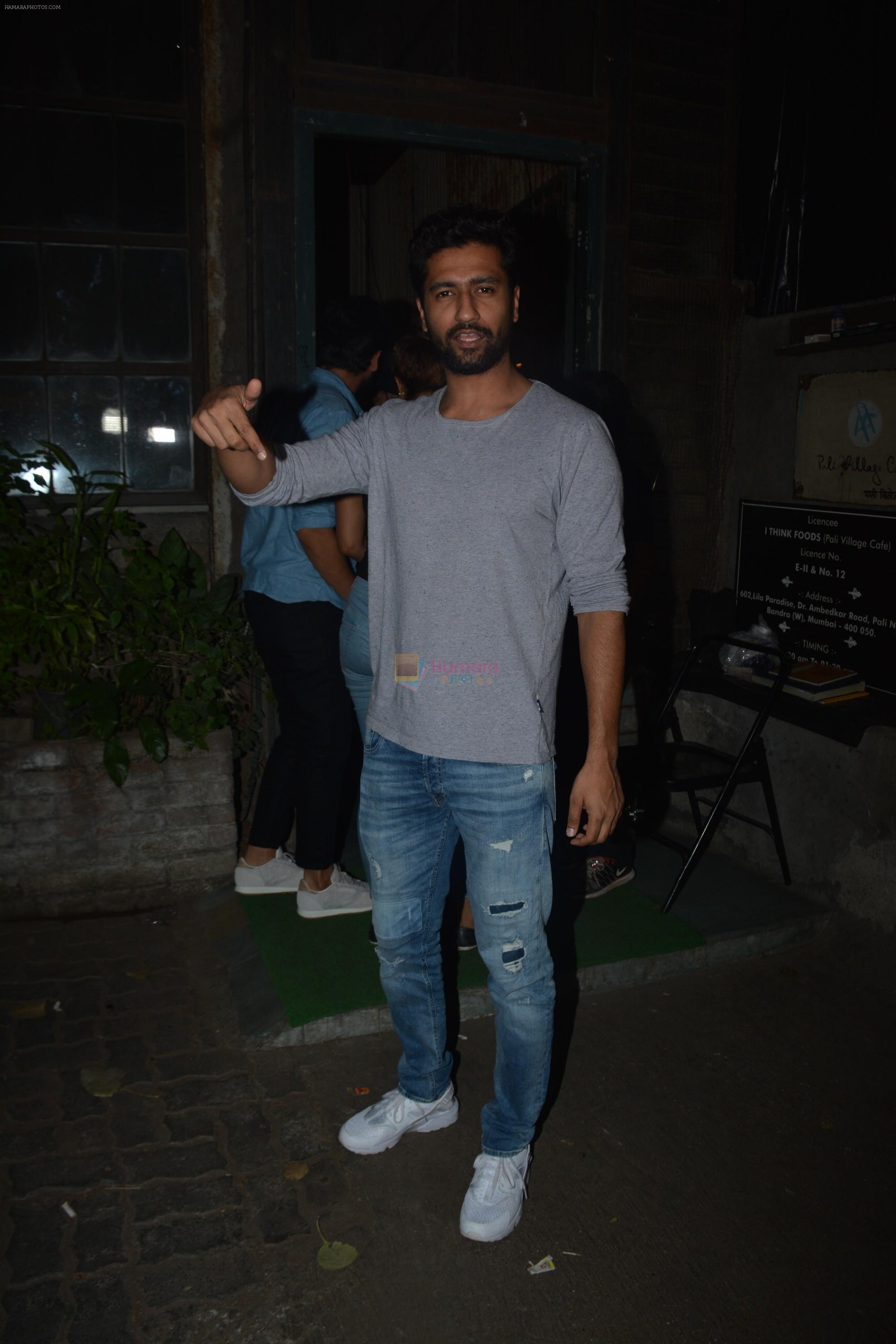 Vicky Kaushal spotted at Palli Village cafe in bandra on 21st Nov 2018