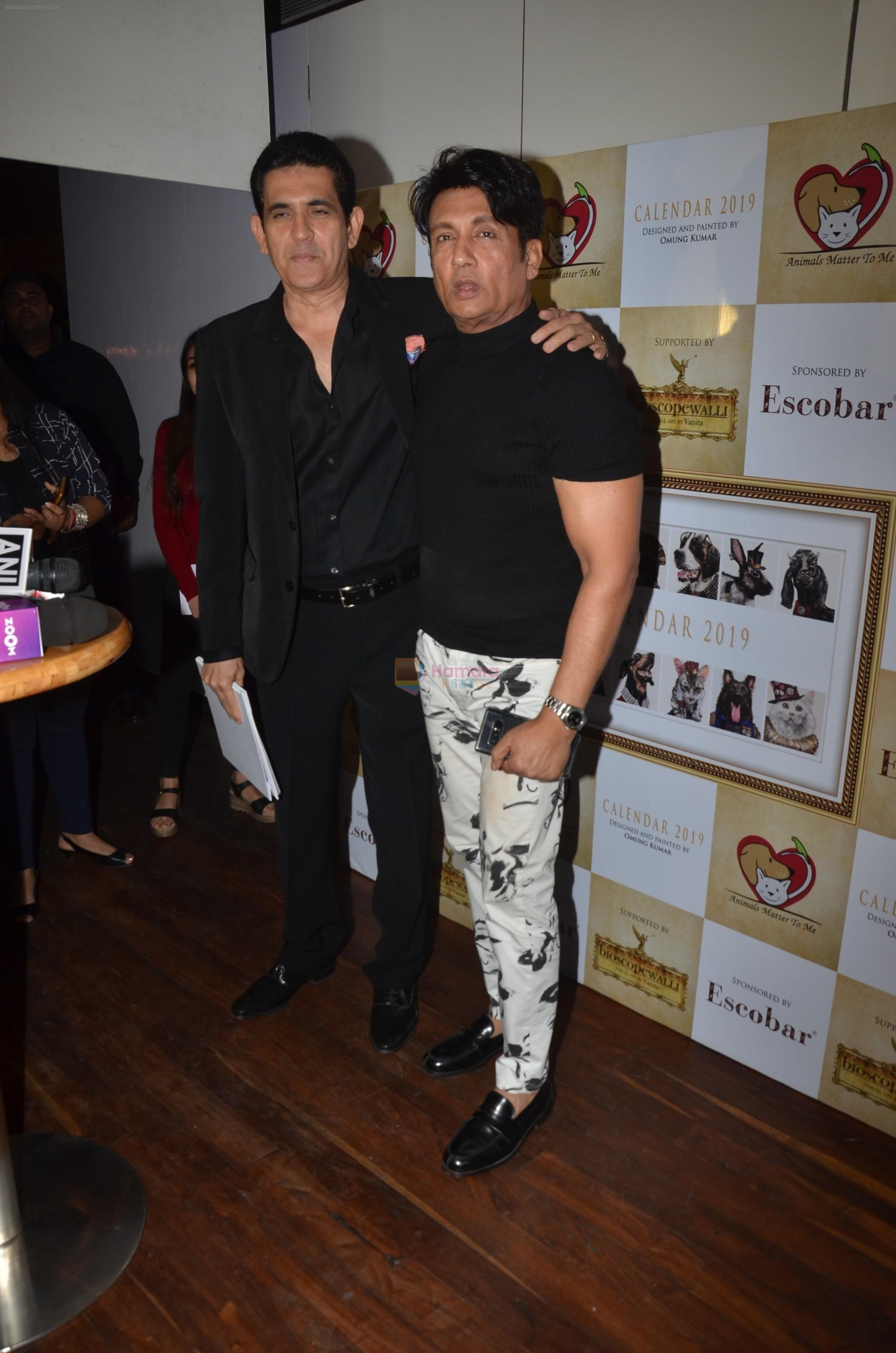Shekhar Suman at the launch of Hand Painted Animal Calendar By Filmmaker Omung Kumar on 21st Nov 2018