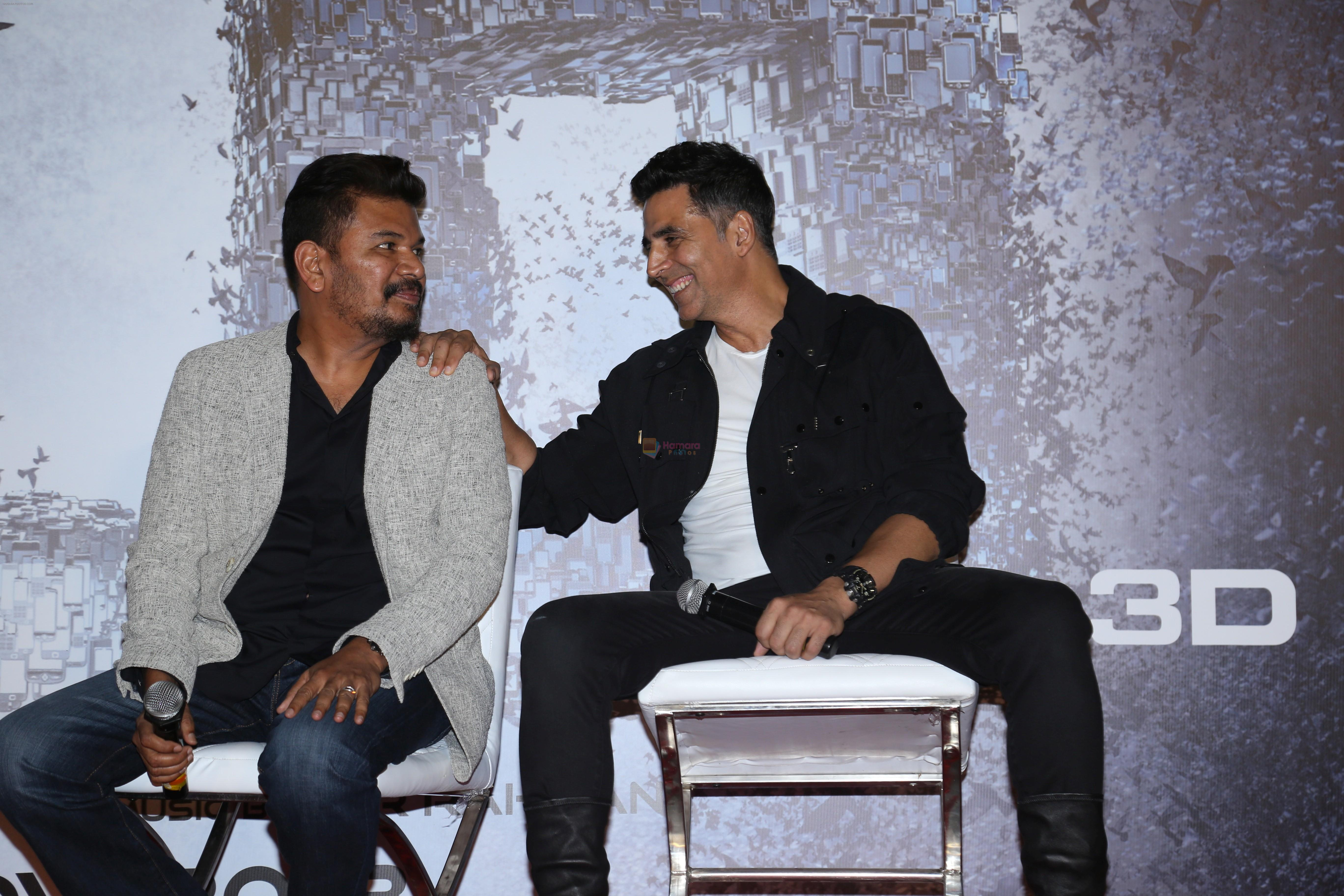 Akshay Kumar, S. Shankar at the Press Conference for film 2.0 in PVR, Juhu on 25th Nov 2018