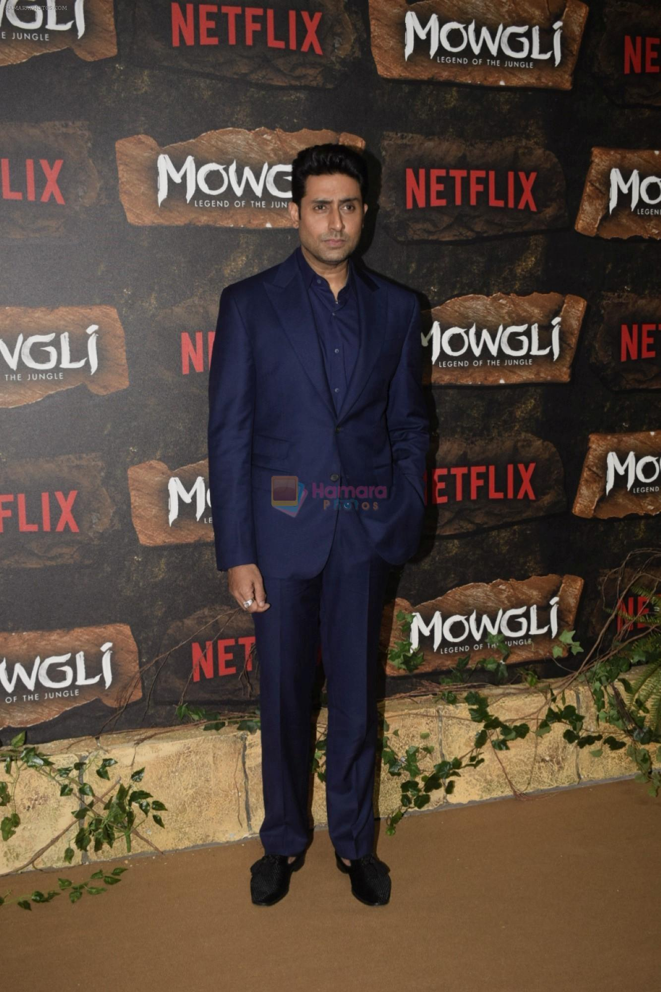 Abhishek Bachchan at Mowgli world premiere in Yashraj studios, Andheri on 26th Nov 2018