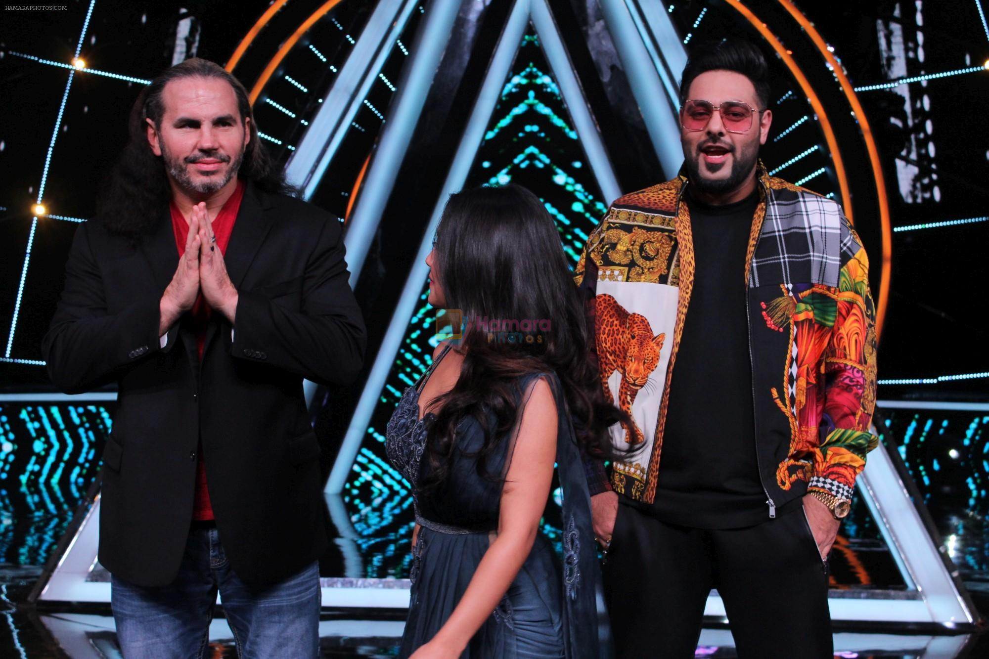 Badshah, Matt Hardy, Neha Kakkar at Indian Idol Session 10 for Shoot Special Episode on 5th Dec 2018