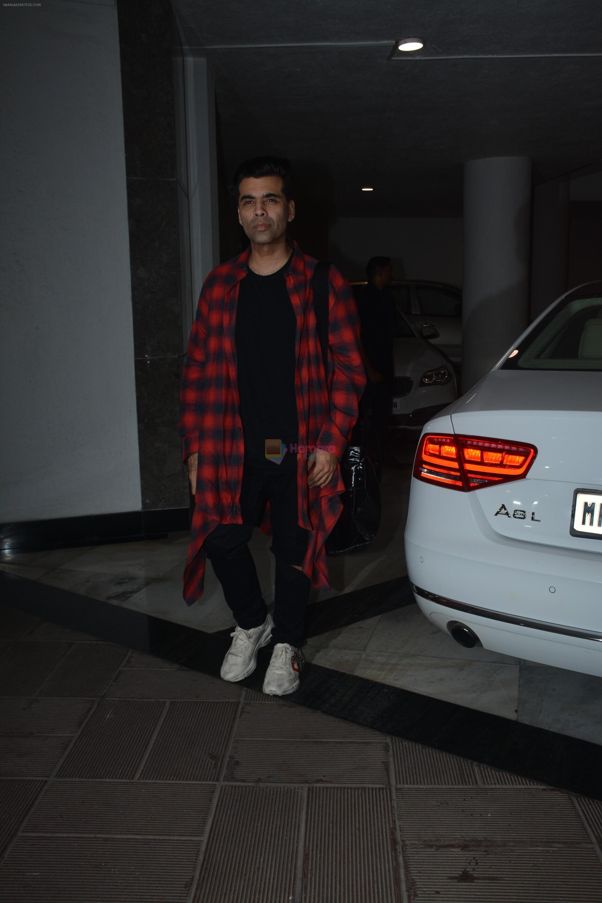 Karan Johar at Manish Malhotra's birthday party at his bandra residence on 4th Dec 2018