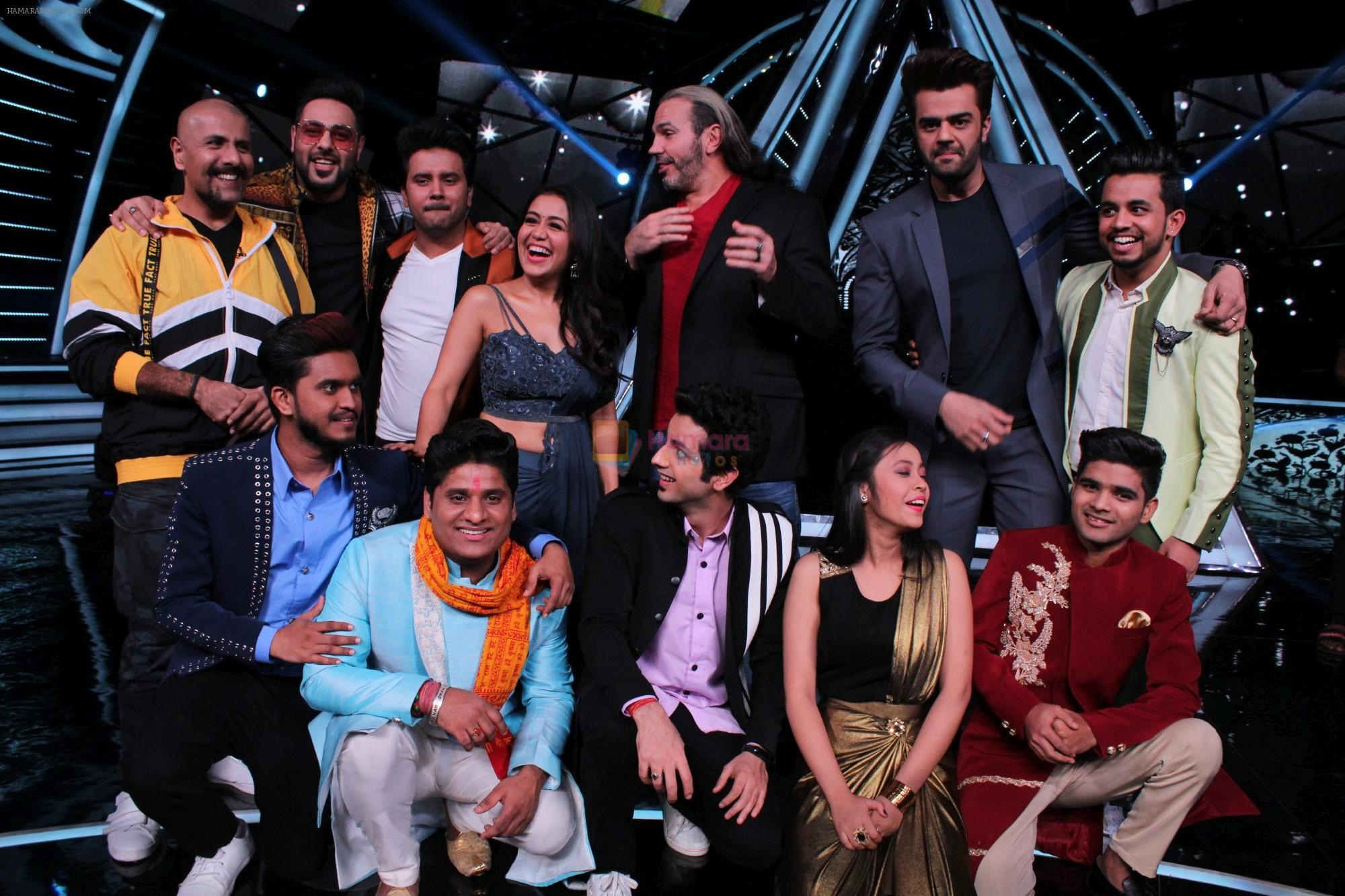 Badshah, Matt Hardy, Neha Kakkar, Vishal Dadlani, Manish Paul at Indian Idol Session 10 for Shoot Special Episode on 5th Dec 2018