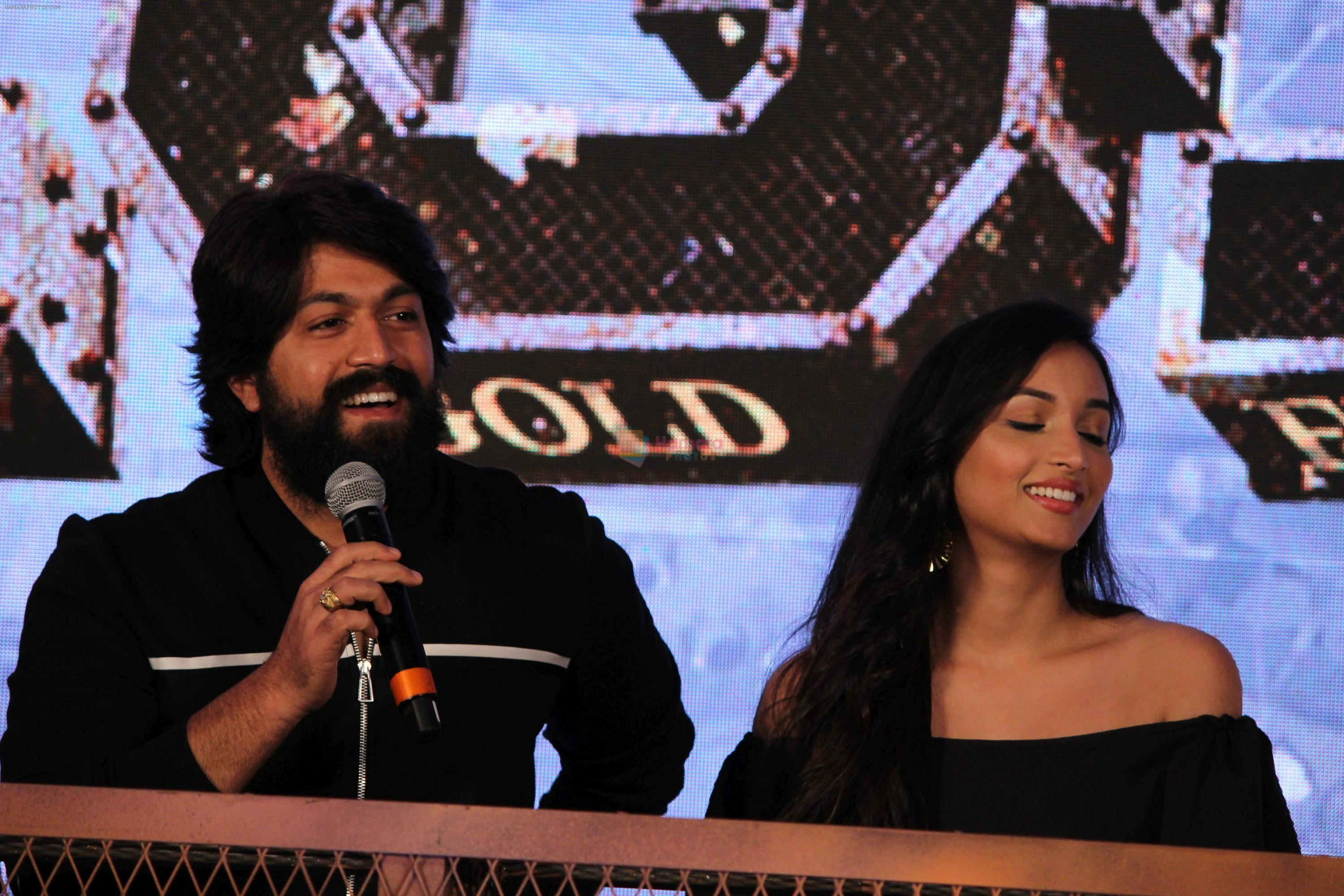 Srinidhi Shetty, Yash at the Trailer Launch Of Film KGF on