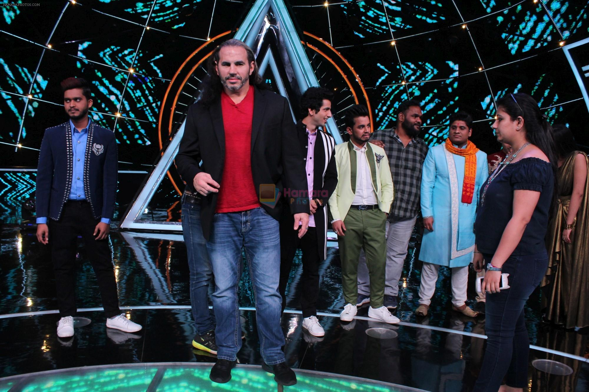 Matt Hardy at Indian Idol Session 10 for Shoot Special Episode on 5th Dec 2018