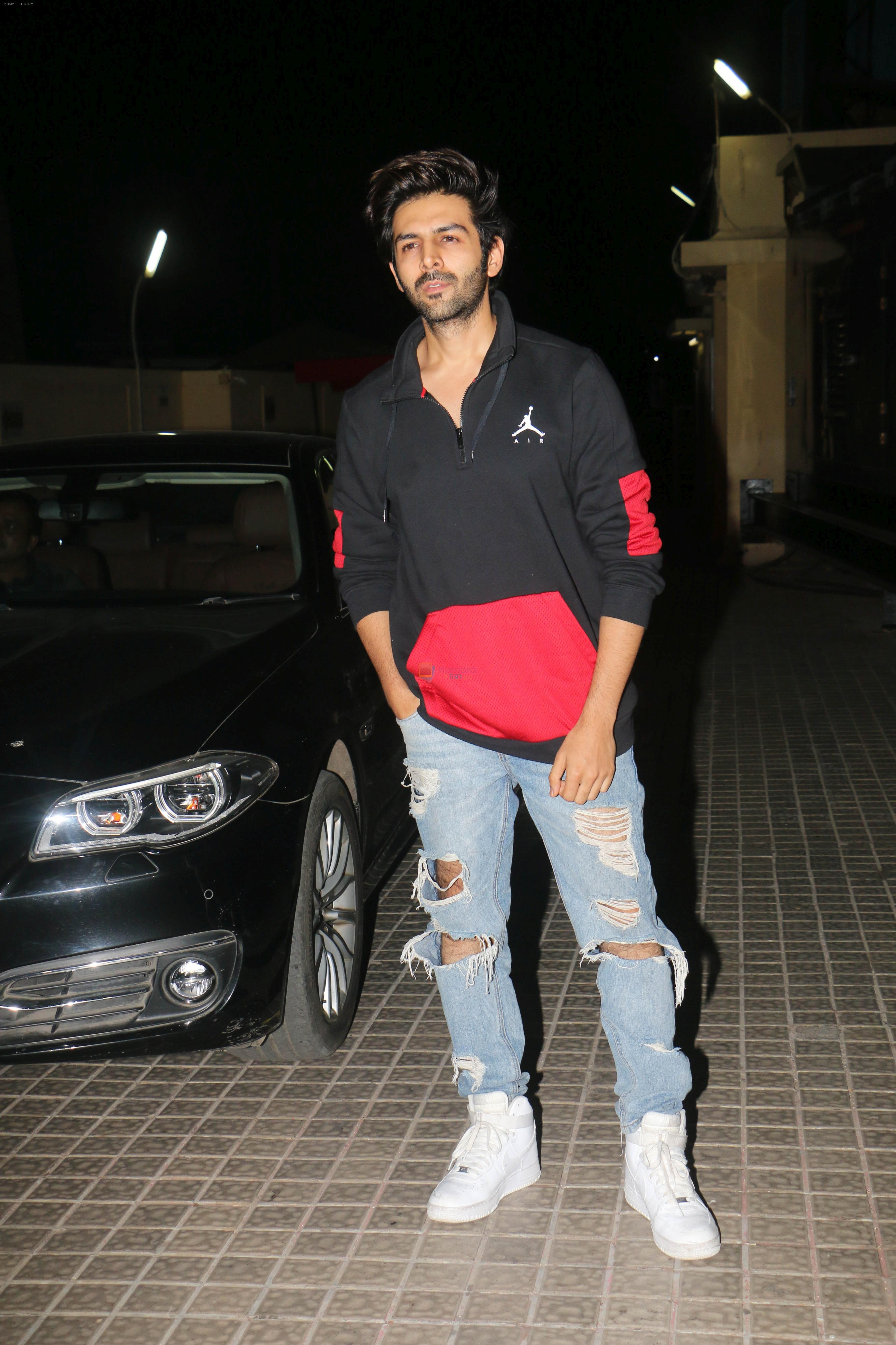 Kartik Aaryan at the Screening Of Film Kedarnath At Pvr Juhu on 5th Dec 2018