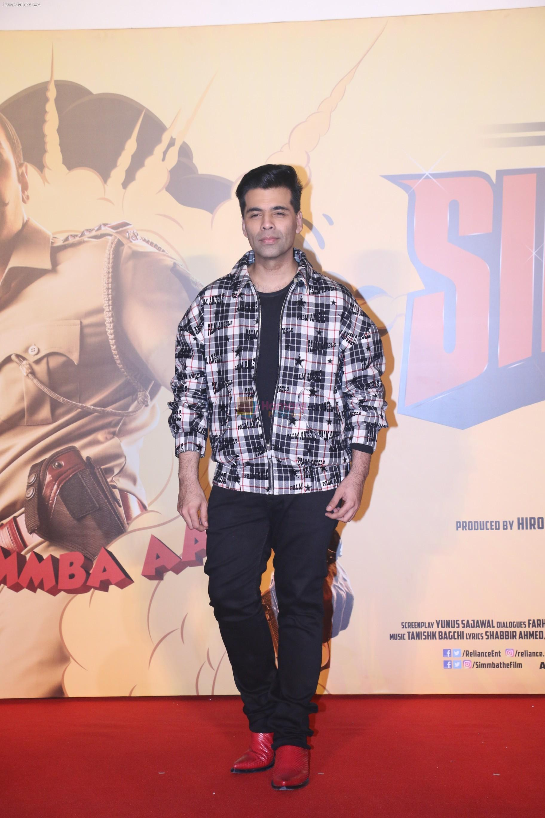 Karan Johar at the Trailer launch of film Simmba in PVR icon, andheri on 4th Dec 2018