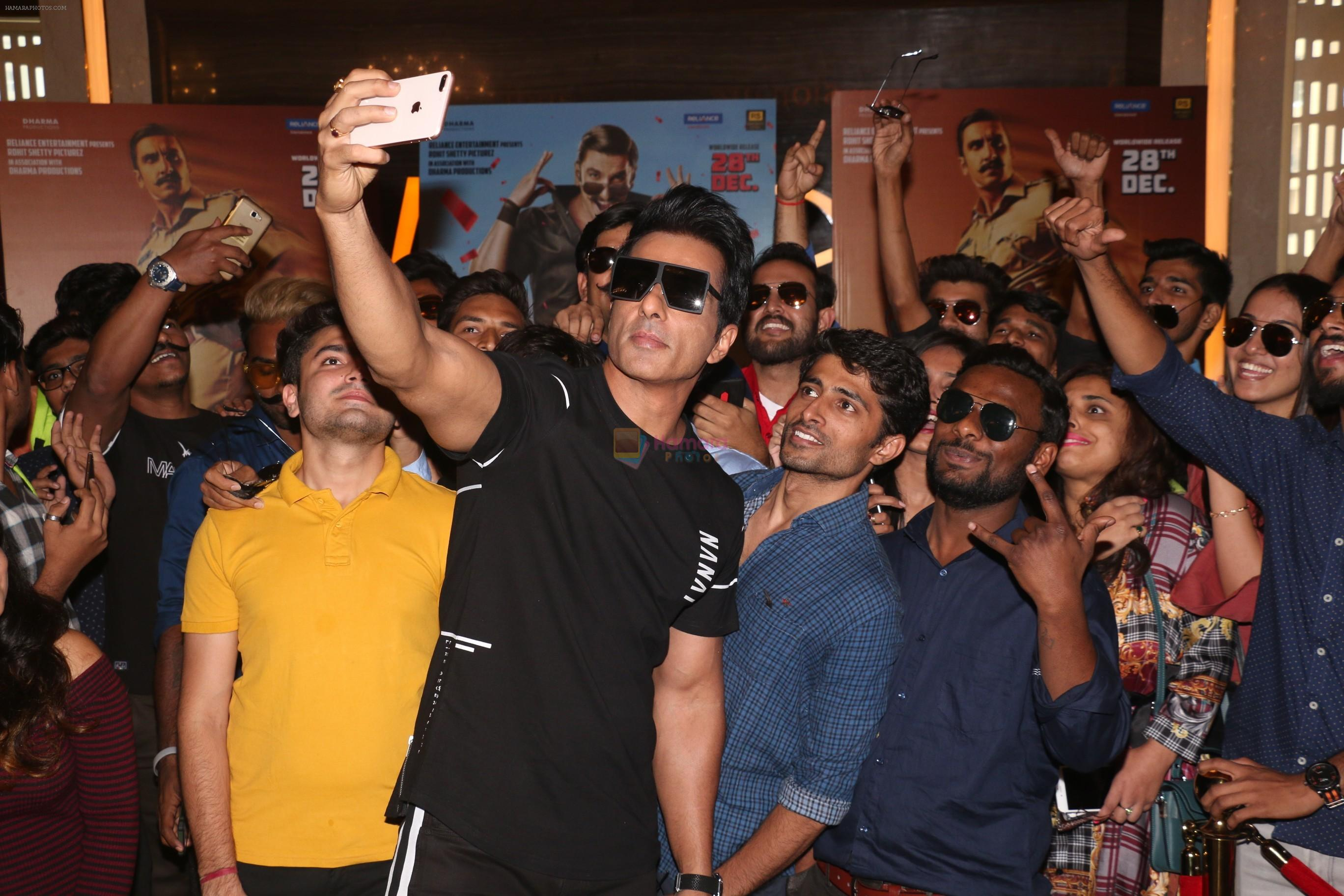 Sonu Sood at the Trailer launch of film Simmba in PVR icon, andheri on 4th Dec 2018
