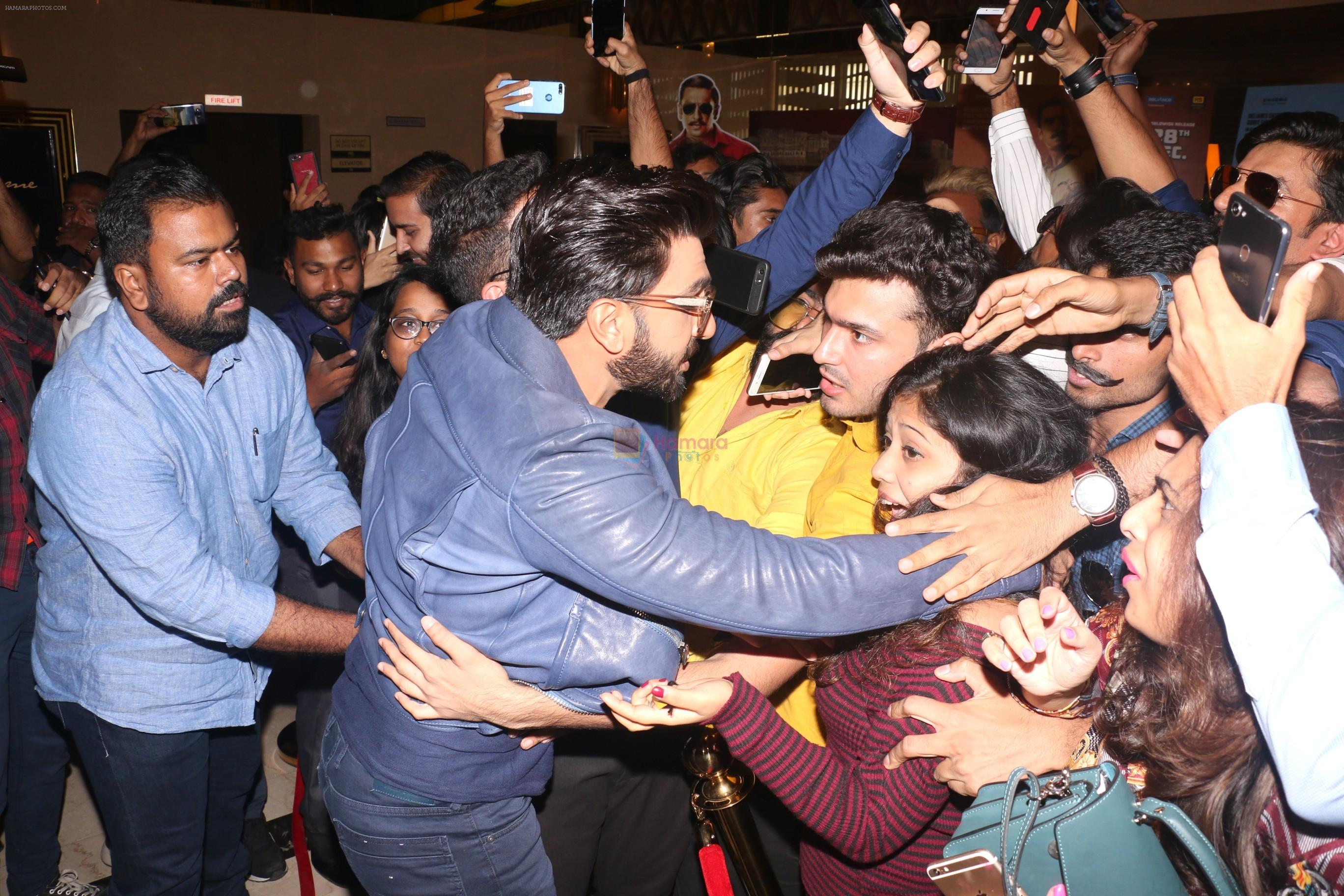 Ranveer Singh at the Trailer launch of film Simmba in PVR icon, andheri on 4th Dec 2018