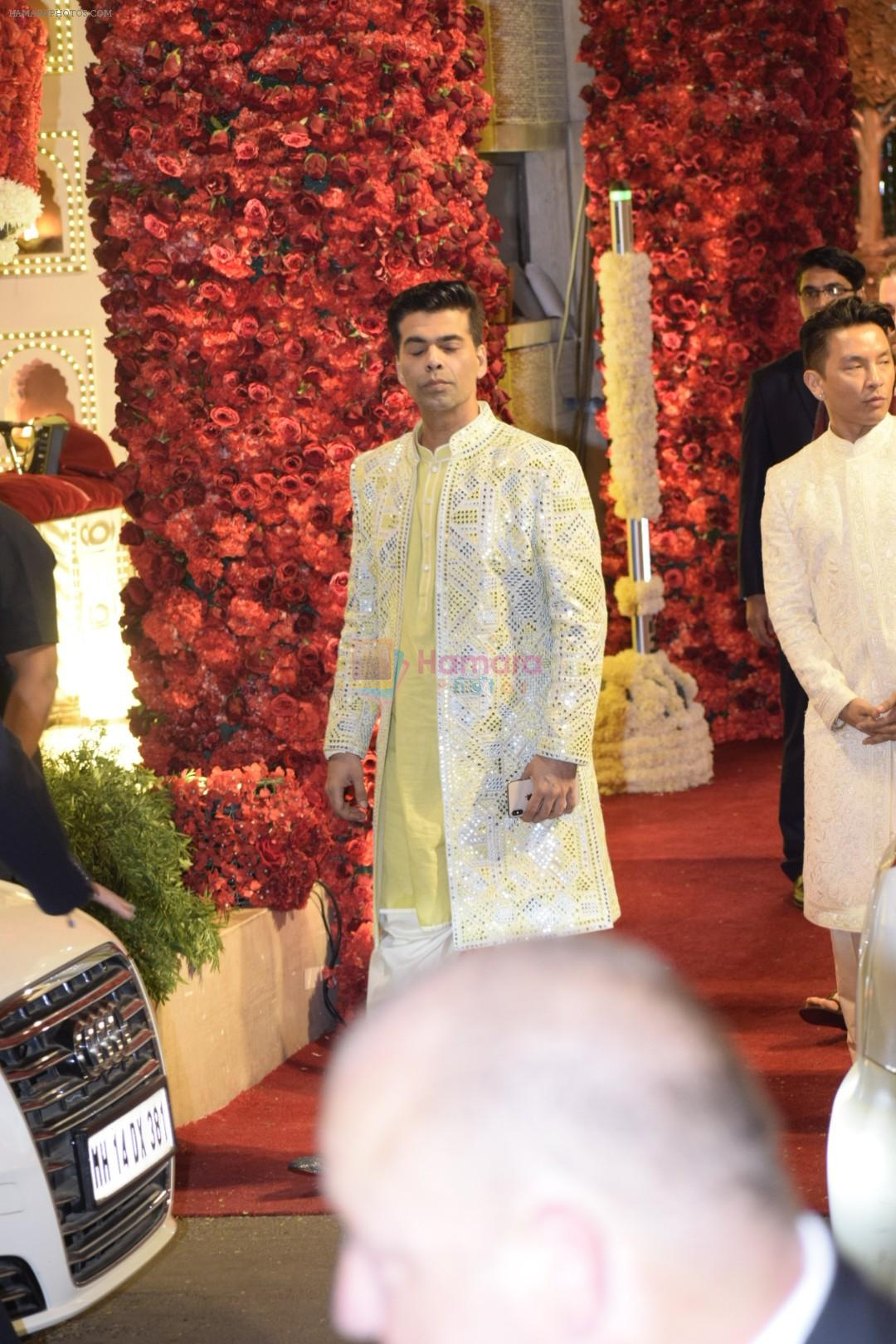 Karan Johar at Isha Ambani and Anand Piramal's wedding on 12th Dec 2018