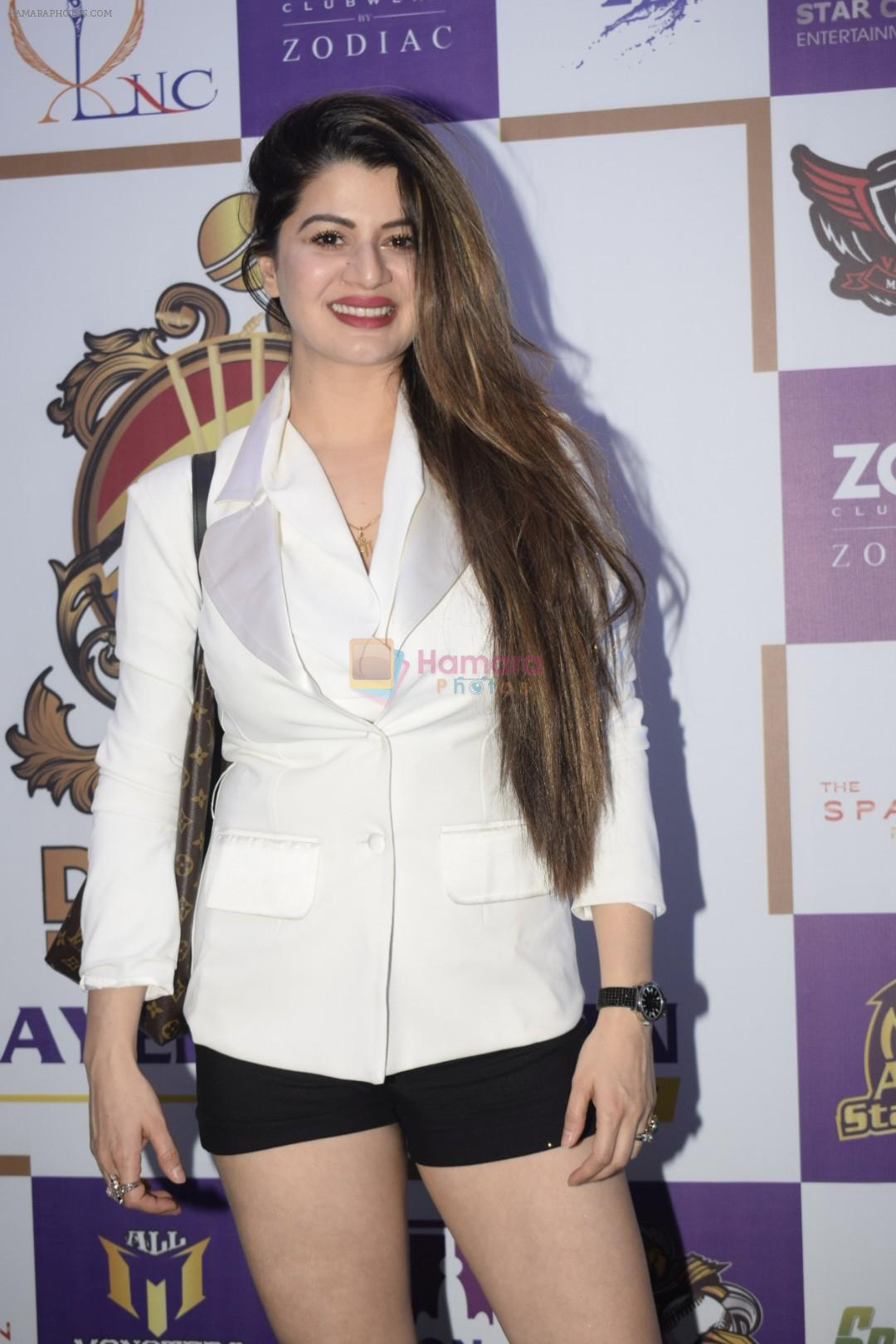 Kainaat Arora at Dreamz Premiere Legue players auction in ITC Grand Central in parel on 15th Dec 2018