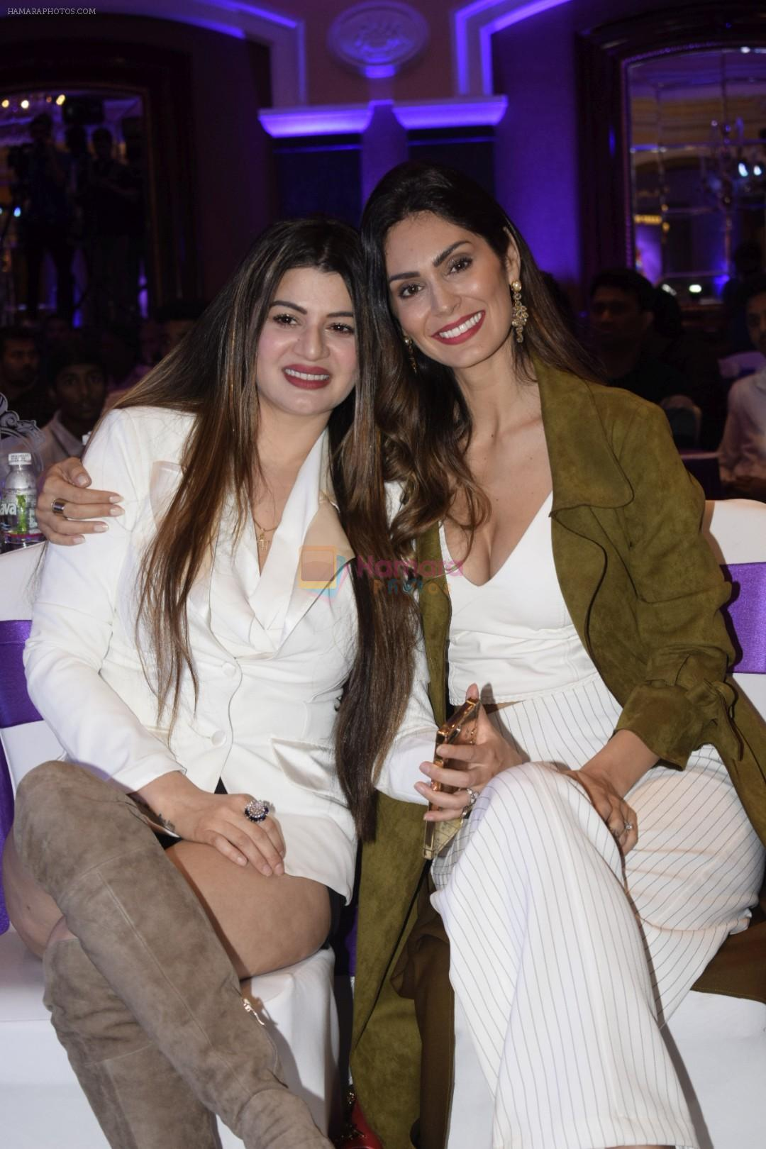 Bruna Abdullah, Kainaat Arora at Dreamz Premiere Legue players auction in ITC Grand Central in parel on 15th Dec 2018