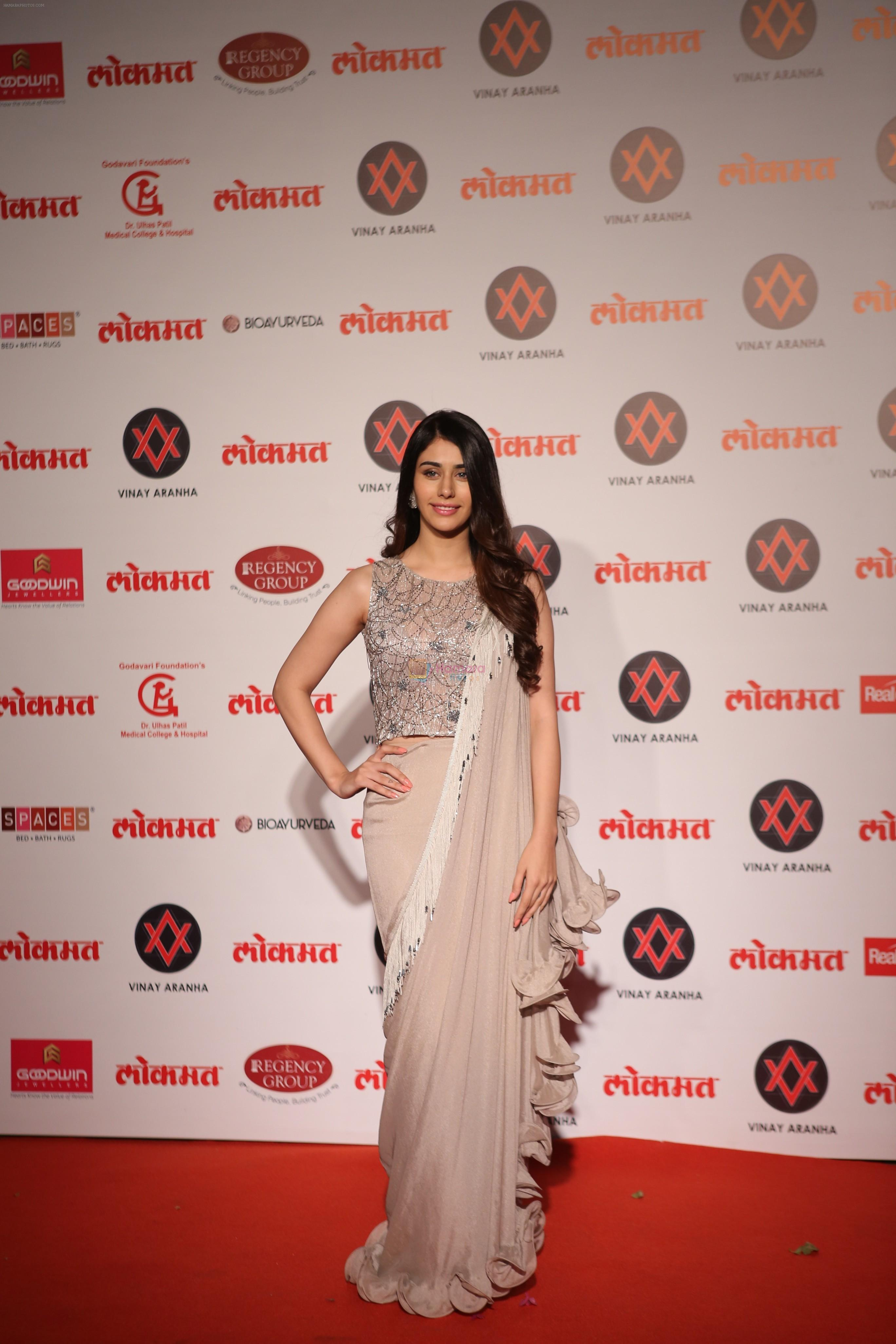 Warina Hussain at Lokmat Most Stylish Awards in The Leela hotel andheri on 19th Dec 2018
