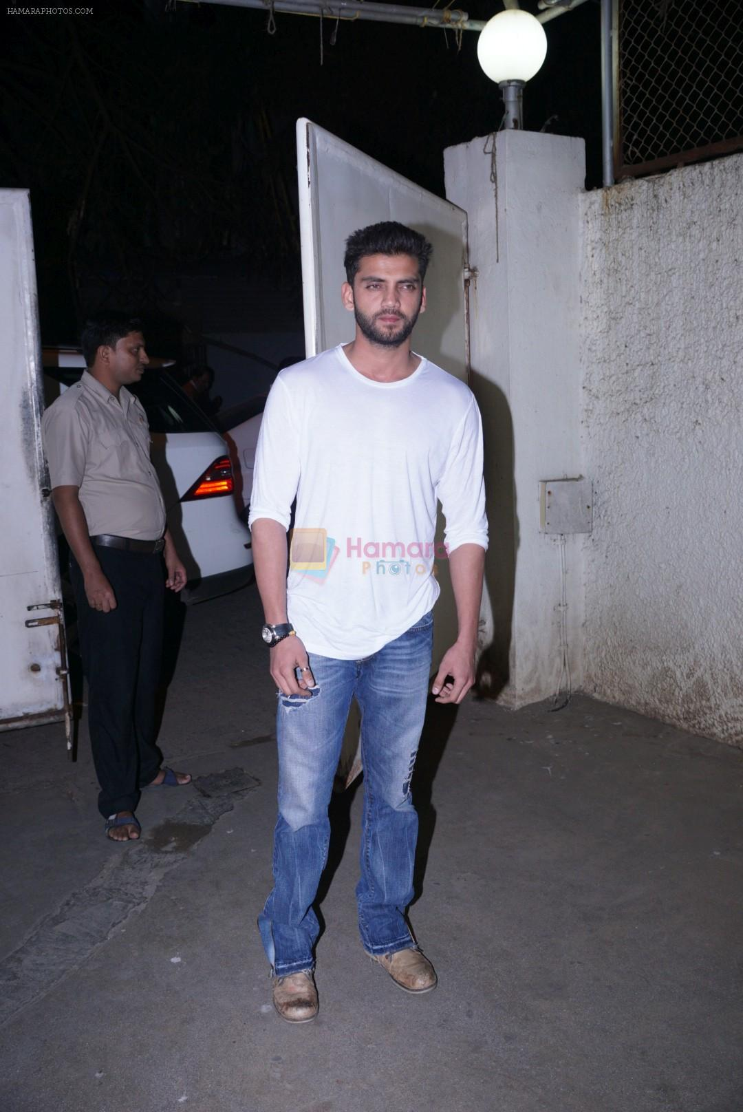 zaheer iqbal at the Screening of Zee5's new series Rangbaaz in sunny sound juhu on 21st Dec 2018