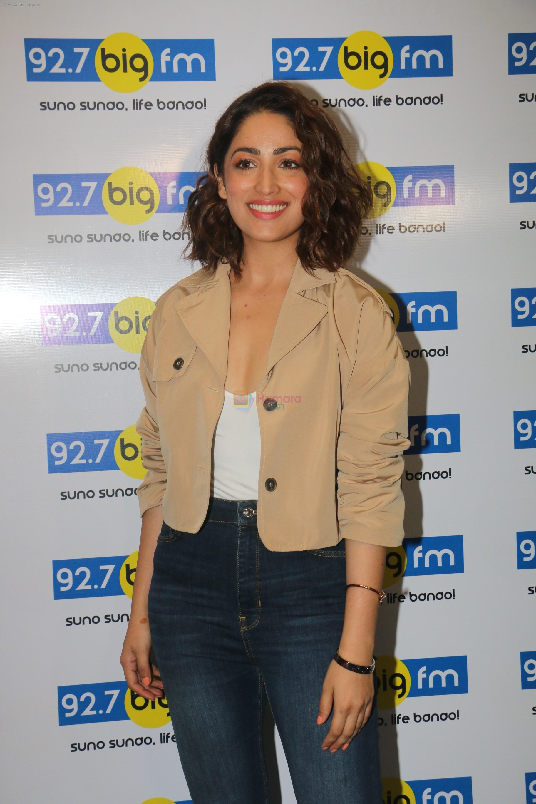 Yami Gautam at big fm studio for the promotions of thier film Uri on 3rd Jan 2019