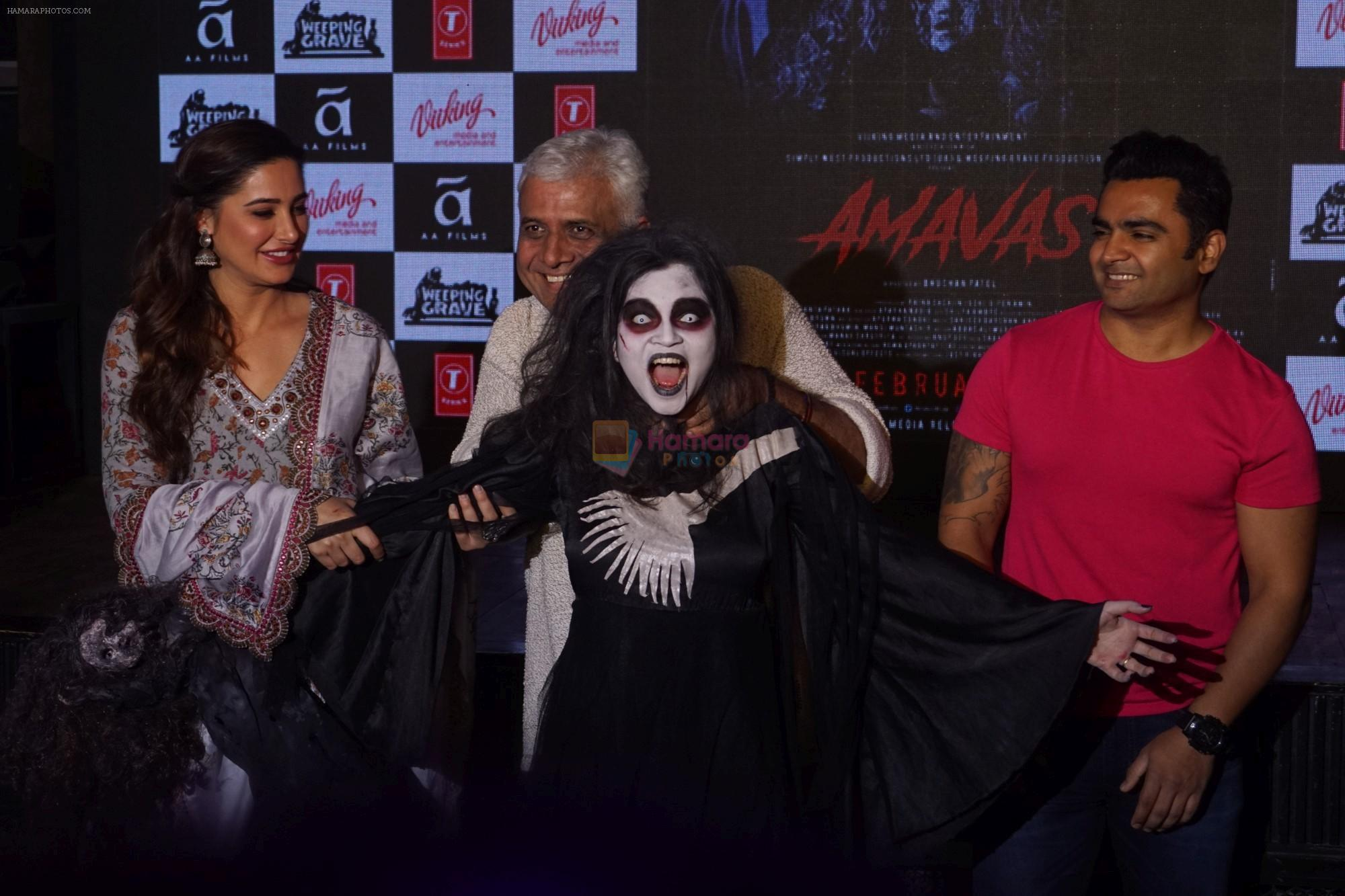 Nargis Fakhri, Sachiin Joshi, Bhushan Patel at the promotion of film Amavas on 6th Jan 2019