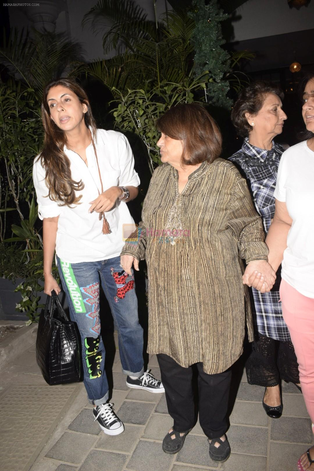 Shweta Bachchan, Kajal Anand & Gauri Khan's Mother At Soho House Juhu on 5th Jan 2019