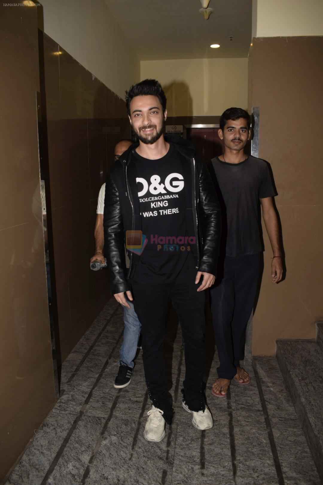 Aayush Sharma at the Screening Of Film Uri in Pvr Juhu on 9th Jan 2019