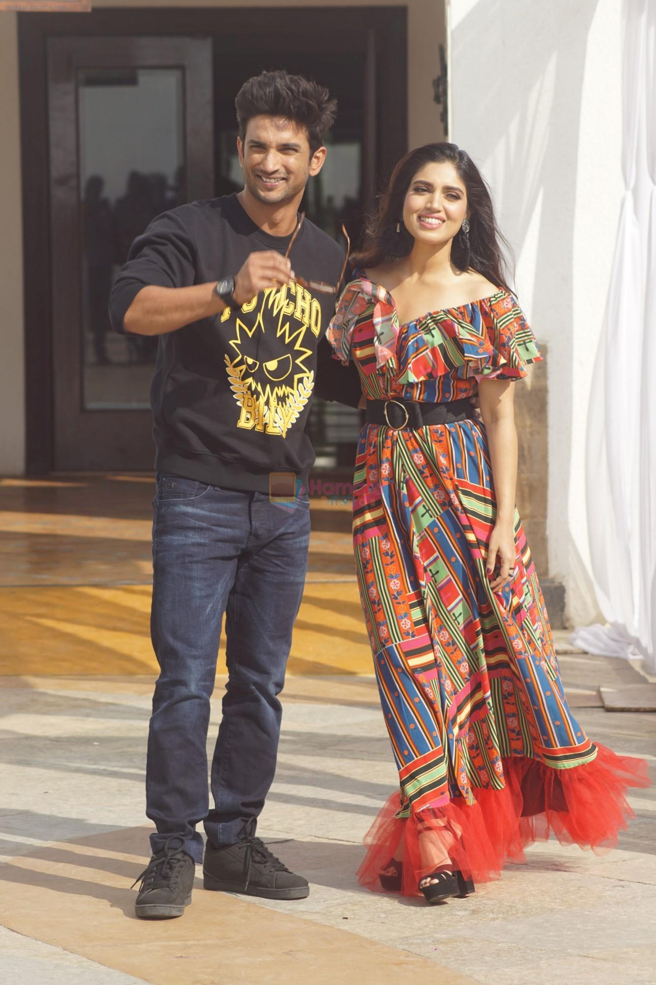 Sushant singh rajput and Bhumi Pednekar at the promotion of film ...