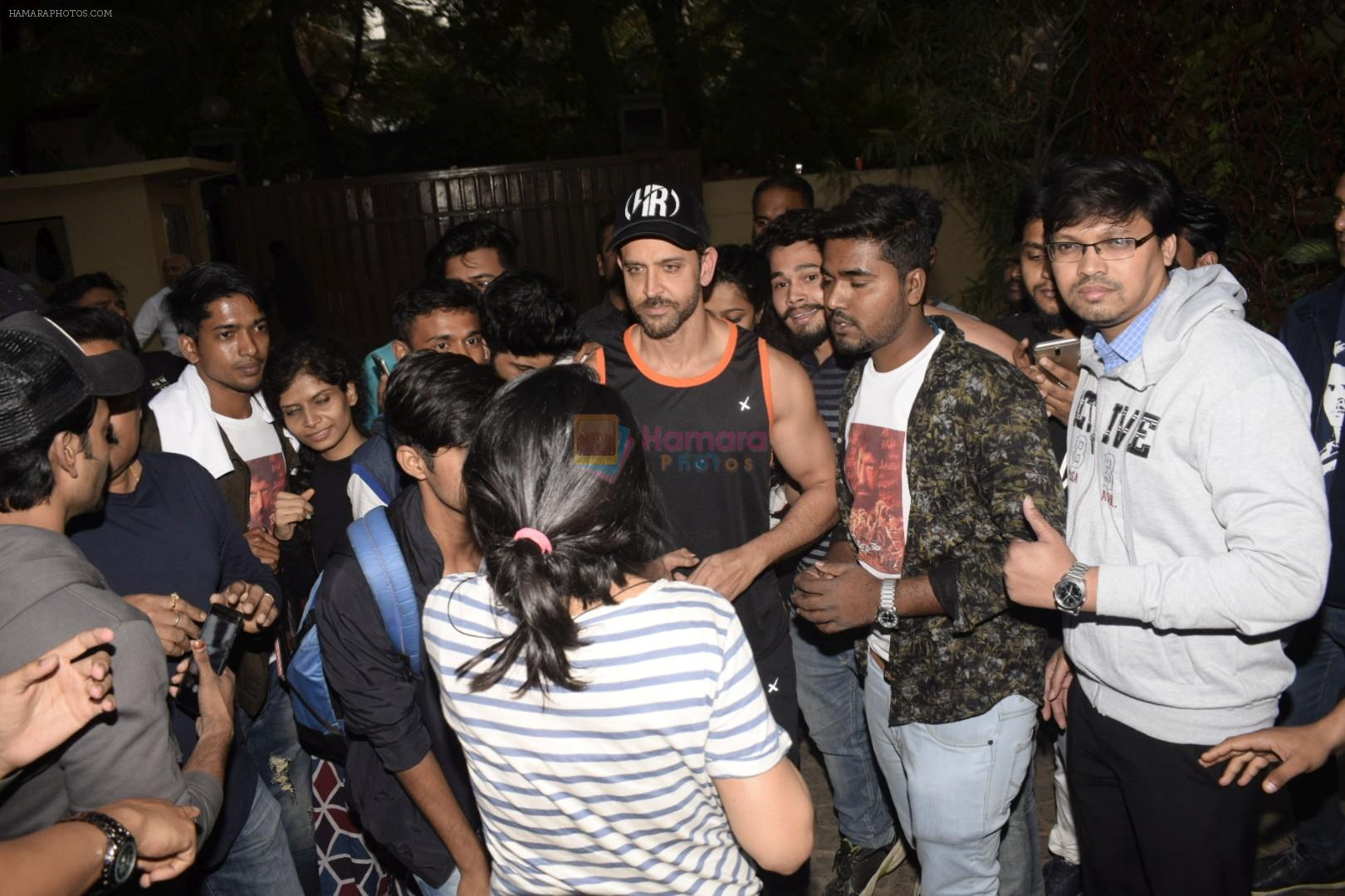 Hrithik Roshan on his birthday at juhu on 10th Jan 2019