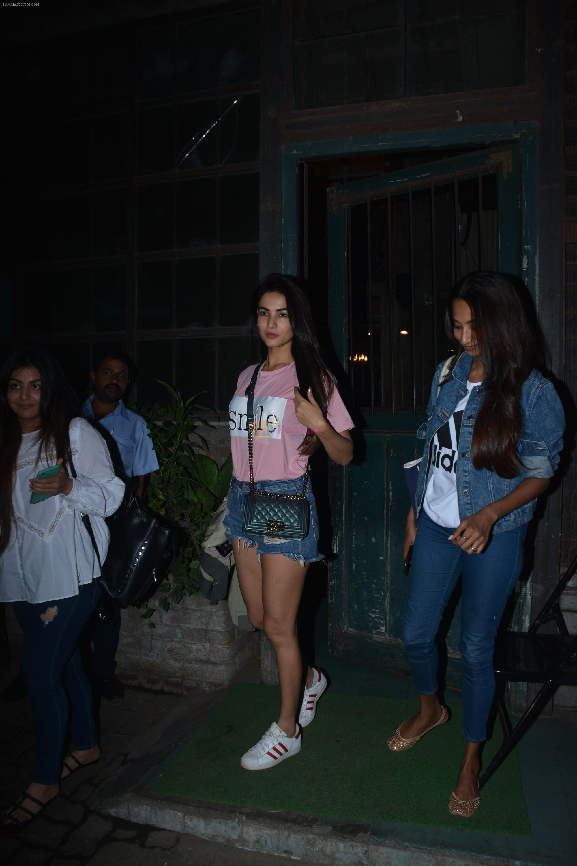 Sonal Chauhan Spotted At Palli Village Cafe Bandra
