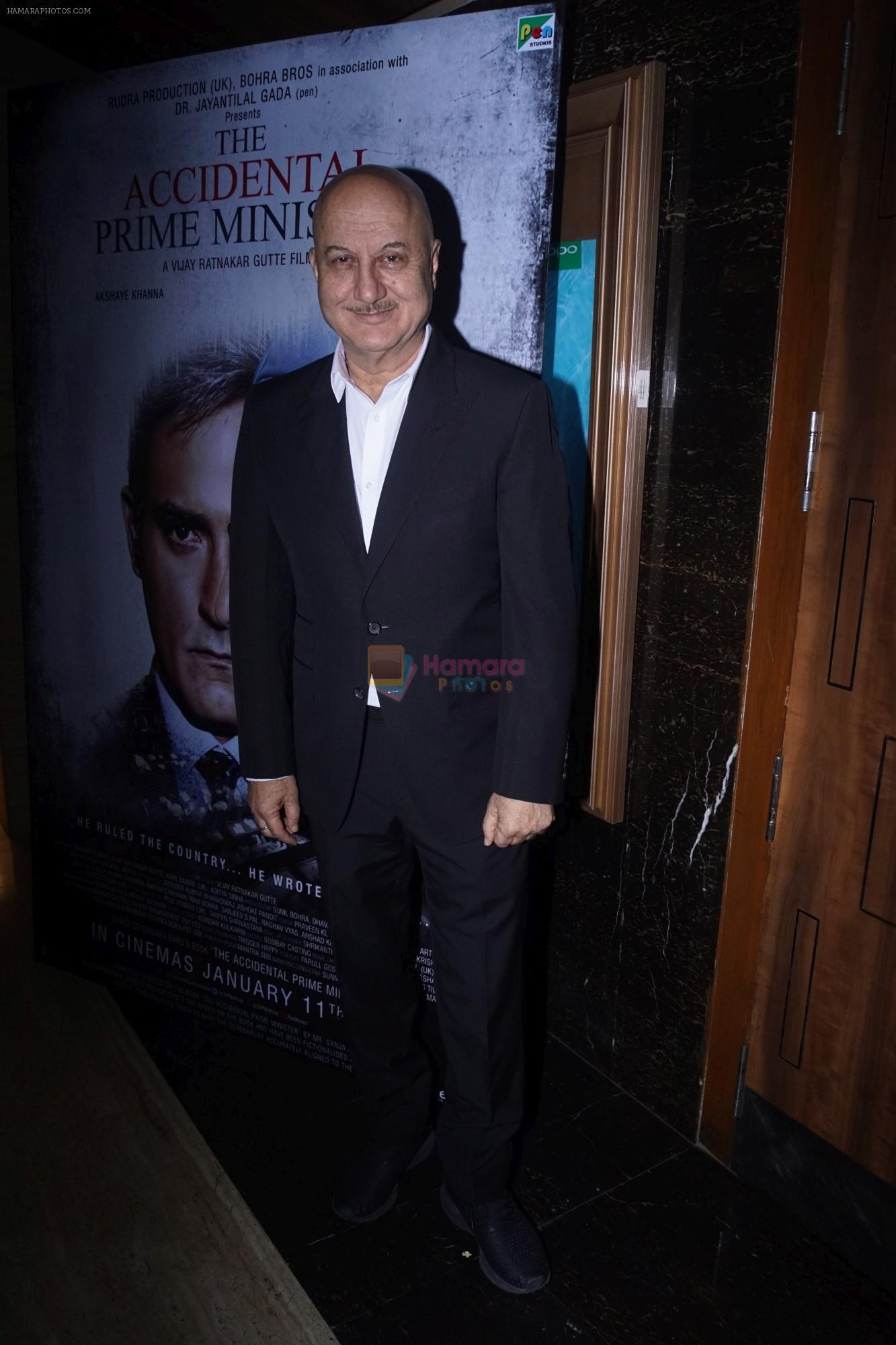 Anupam Kher at the Special Screening of film Accidental Prime Minister on 10th Jan 2019