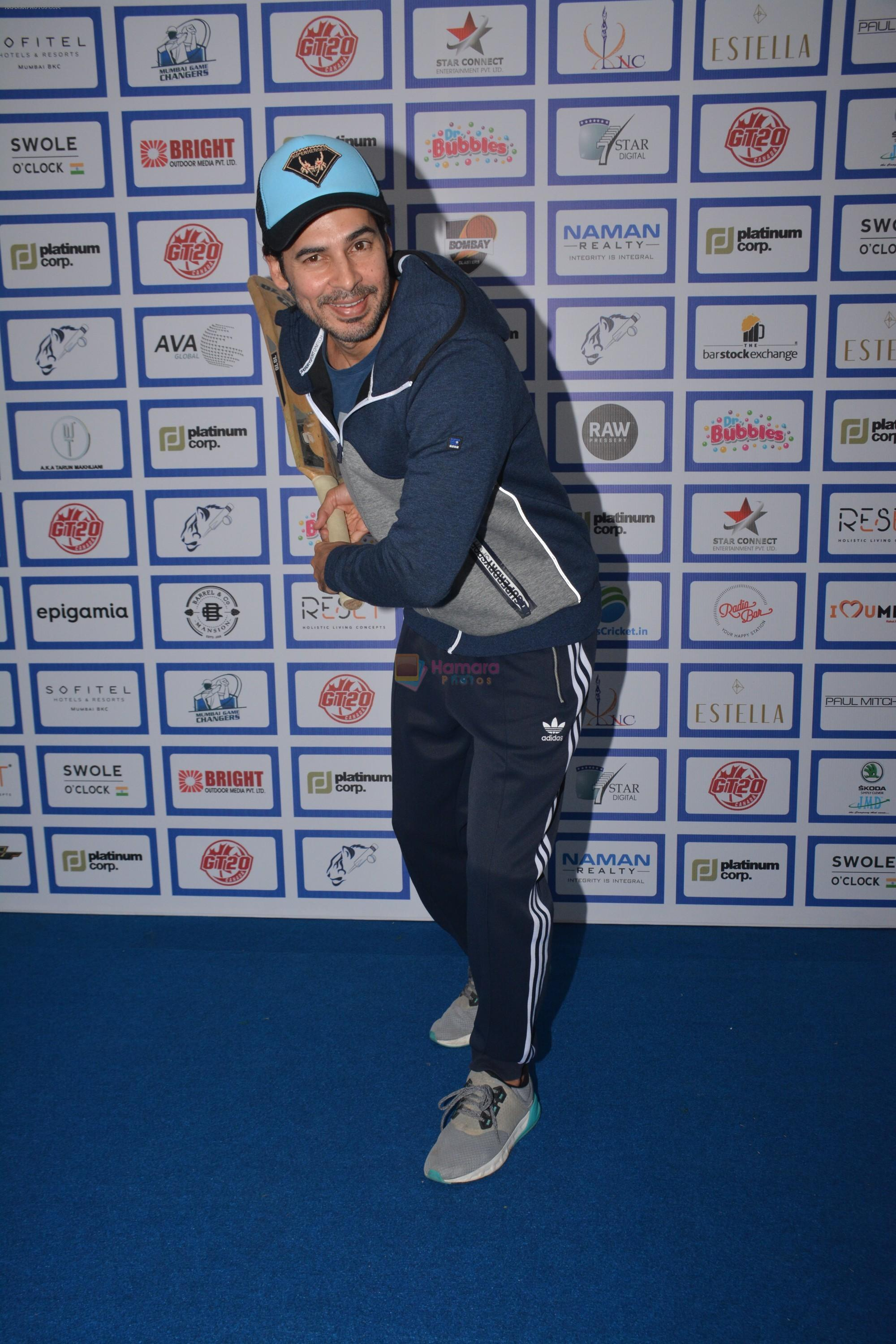 Dino Morea during The Inaugural Match Of Super Star League At Bandra on 7th Jan 2019