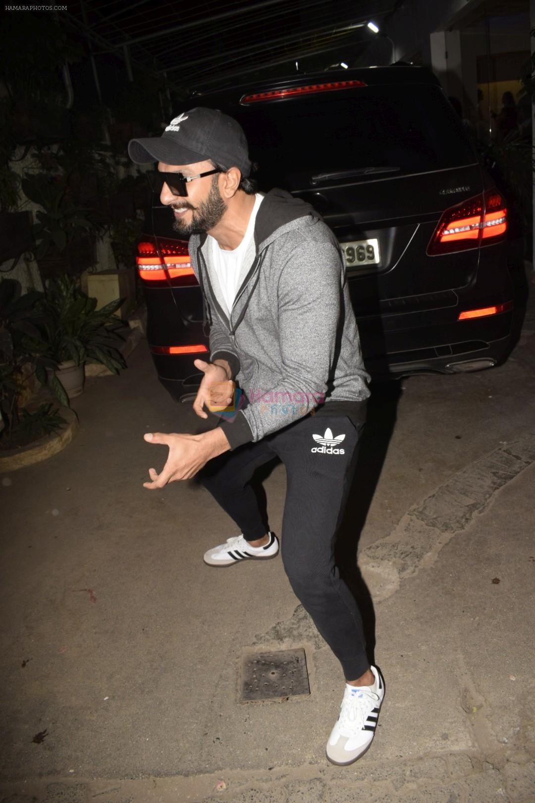 Ranveer Singh at the Screening of film Uri in sunny sound juhu on 12th Jan 2019