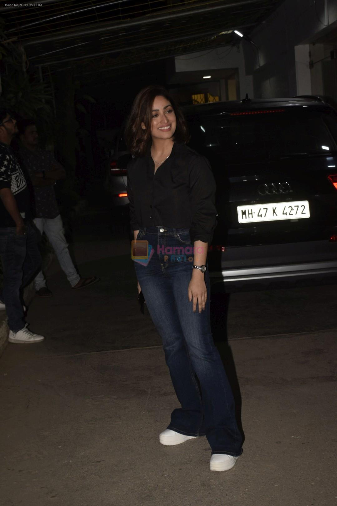 Yami Gautam at the Screening of film Uri in sunny sound juhu on 12th Jan 2019