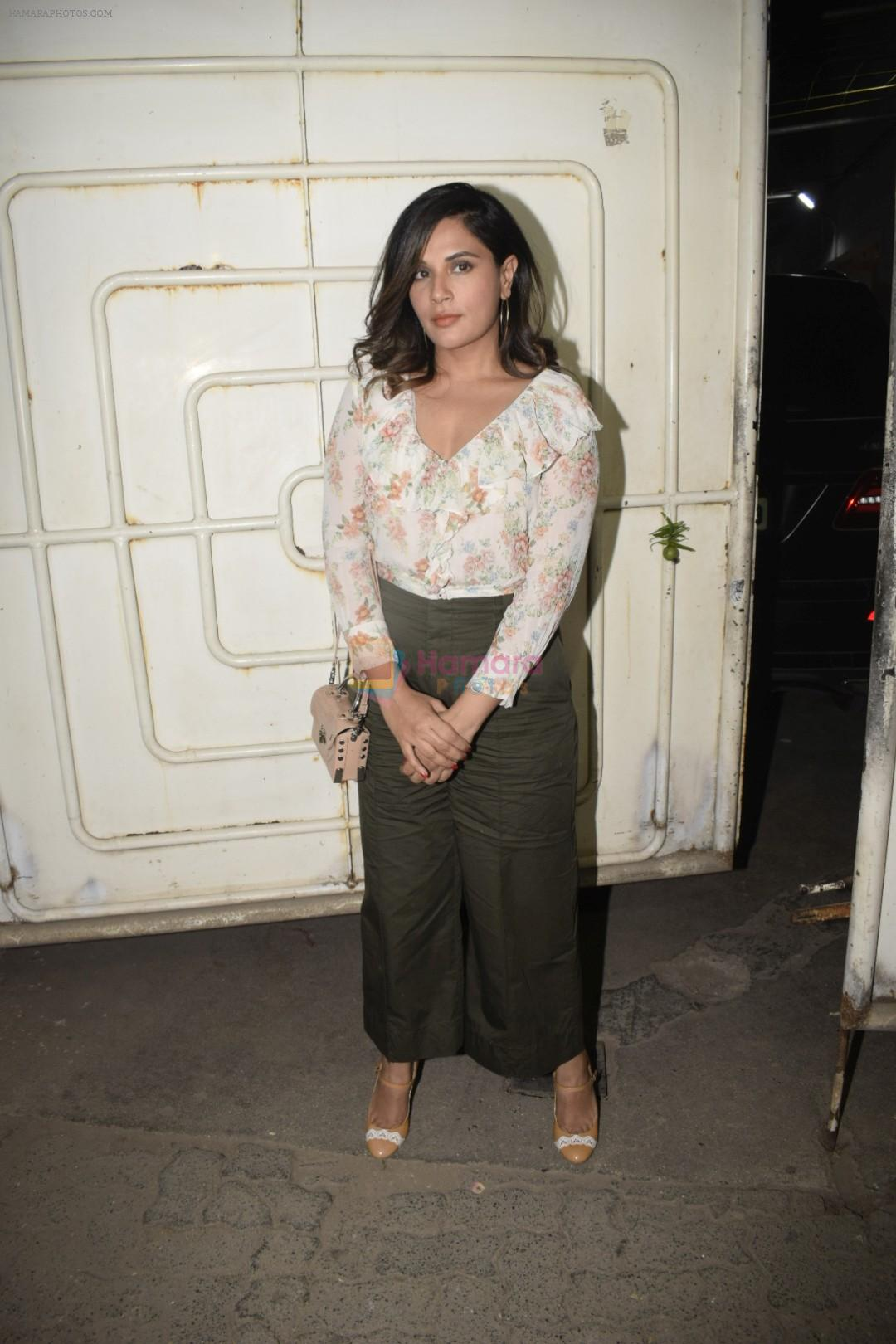 Richa Chadda at the Screening of film Uri in sunny sound juhu on 12th Jan 2019