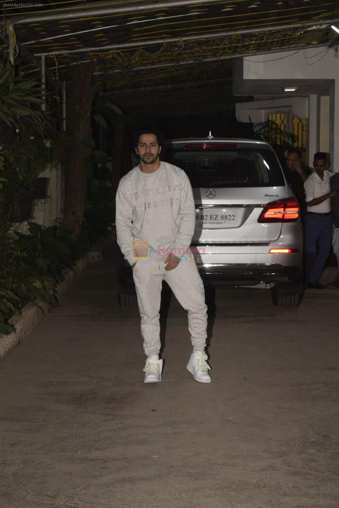 Varun Dhawan at the Screening of film Uri in sunny sound juhu on 12th Jan 2019