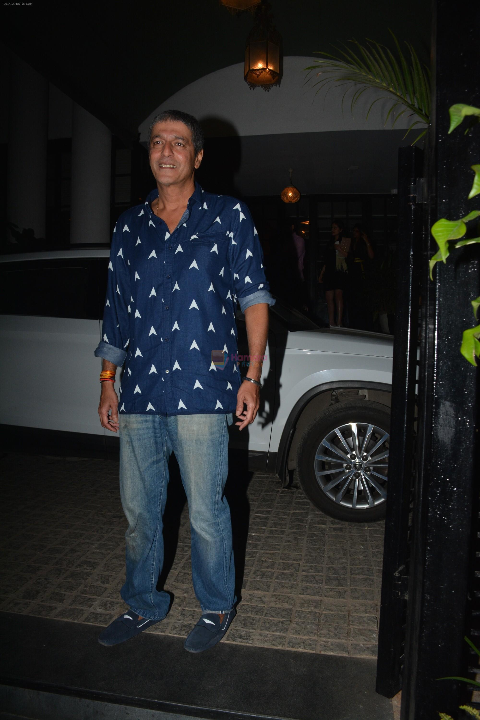 Chunky Pandey with Bhavna & Ananya spotted at Soho house juhu on 12th Jan 2019
