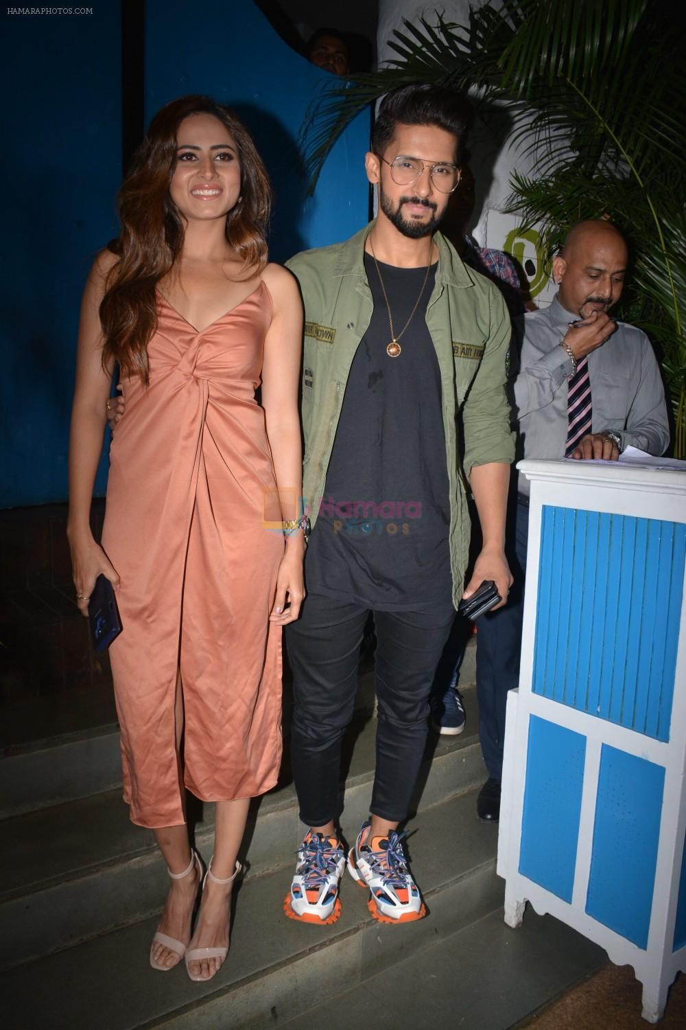 Ravi Dubey, Sargun Mehta at the Success party of film Uri in Olive, bandra on 16th Jan 2019
