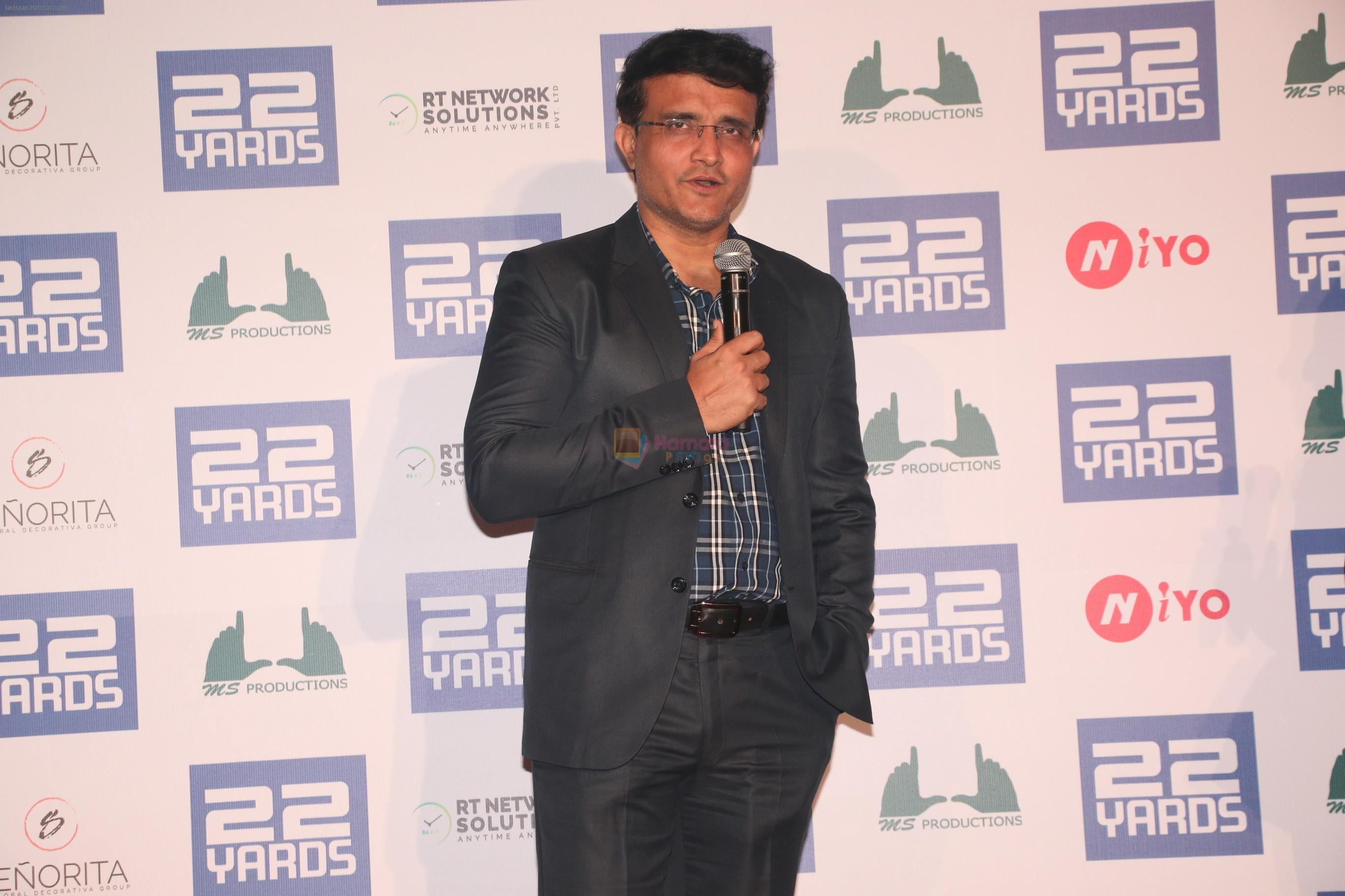 Sourav Ganguly at the Trailer launch of film 22 Yards at pvr juhu on 16th Jan 2019