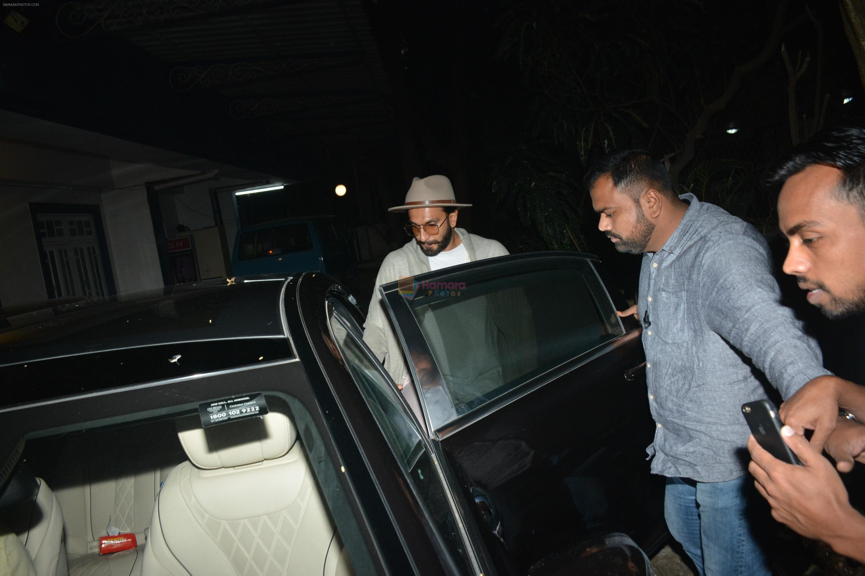 Ranveer Singh spotted at recording studio in bandra on 18th Jan 2019