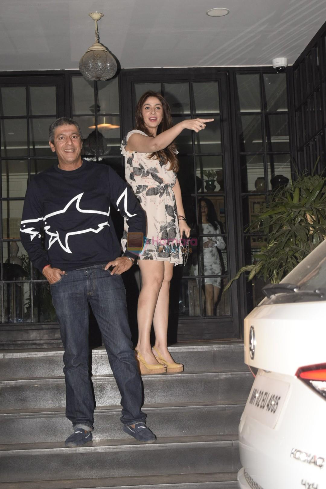 Chunky Pandey with Bhavna & Ananya spotted at Soho House juhu on 18th Jan 2019