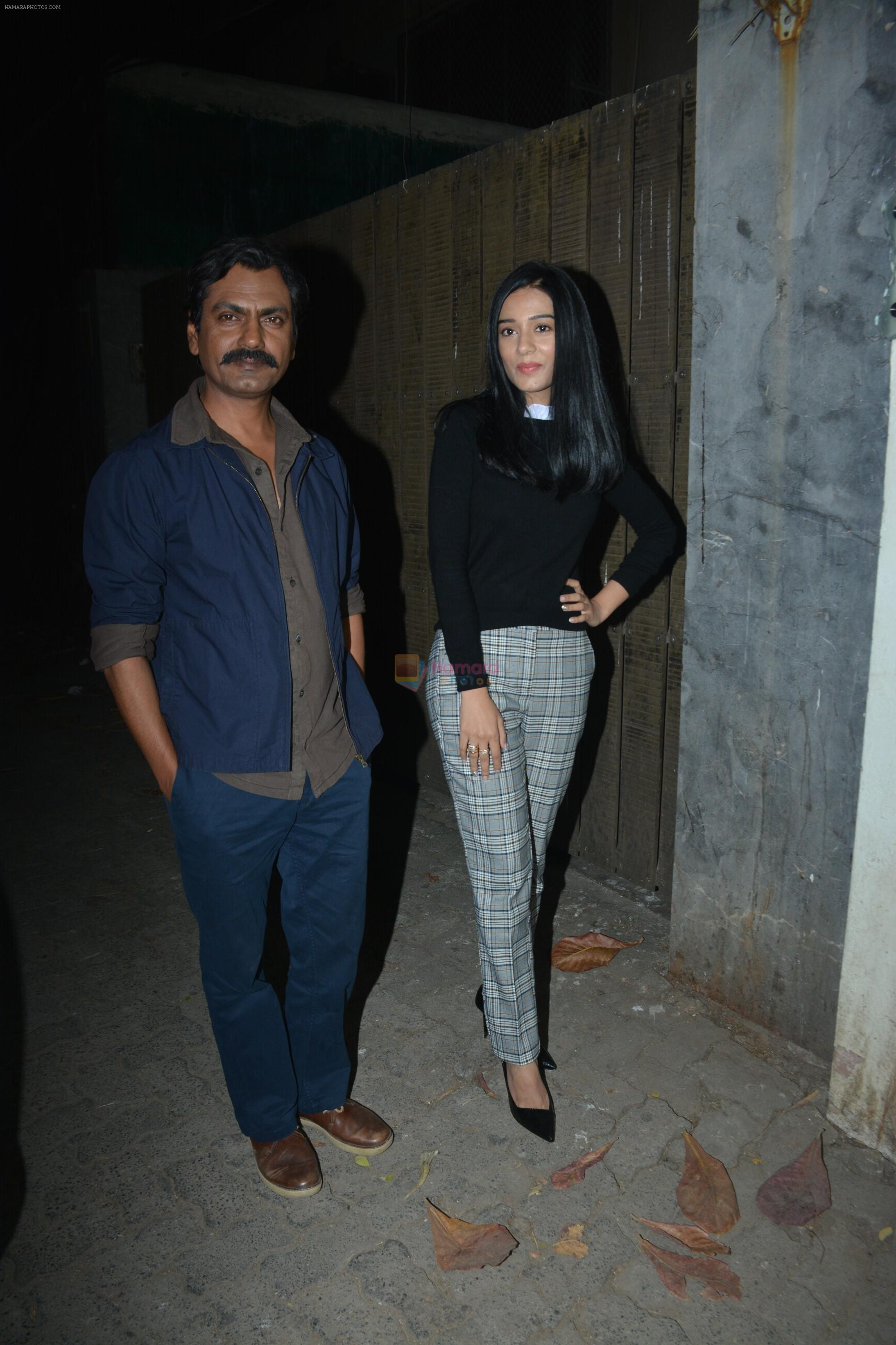 Amrita Rao at the Screening of film Thackeray in sunny super sound on 24th Jan 2019