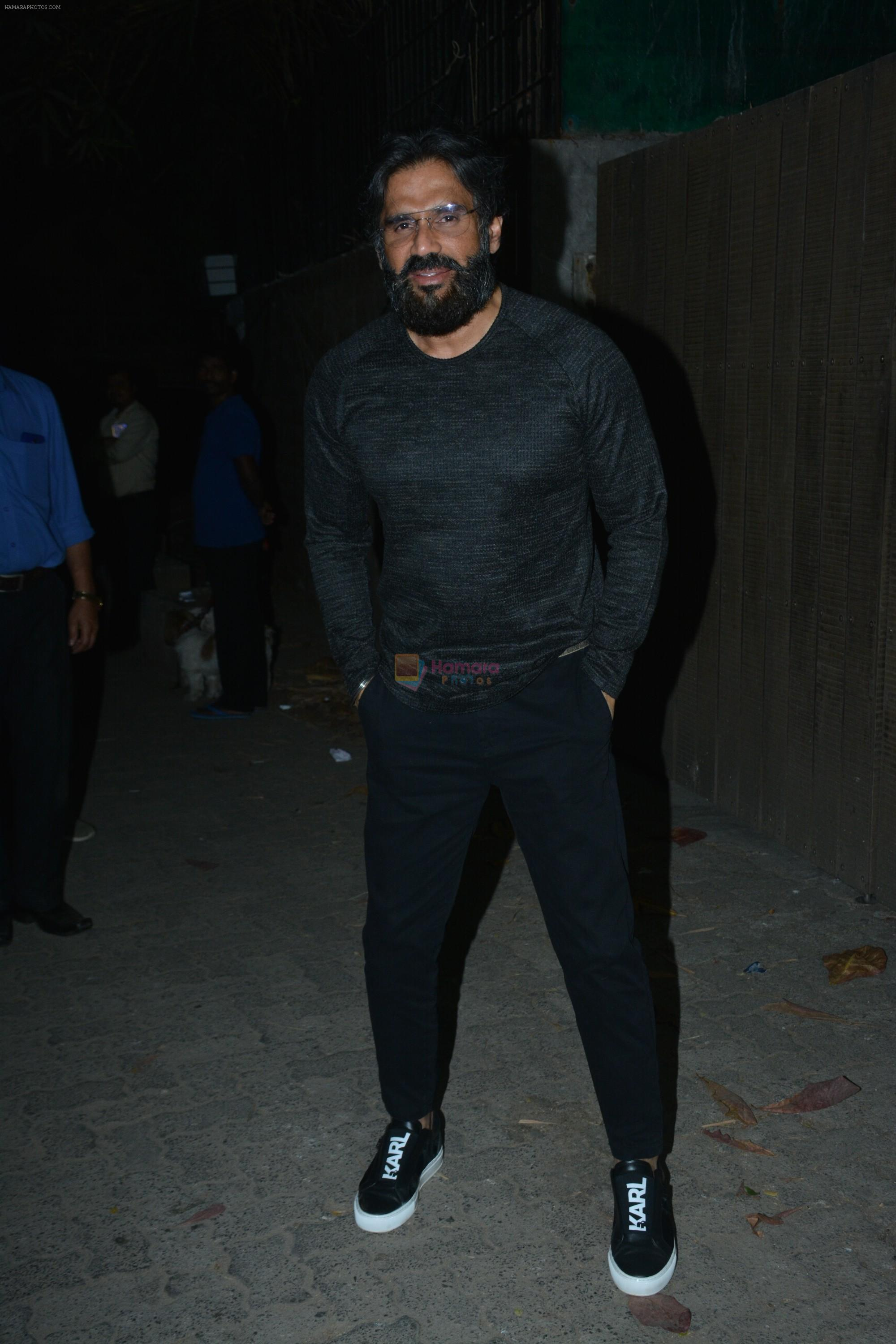 Sunil Shetty at the Screening of film Thackeray in sunny super sound on 24th Jan 2019
