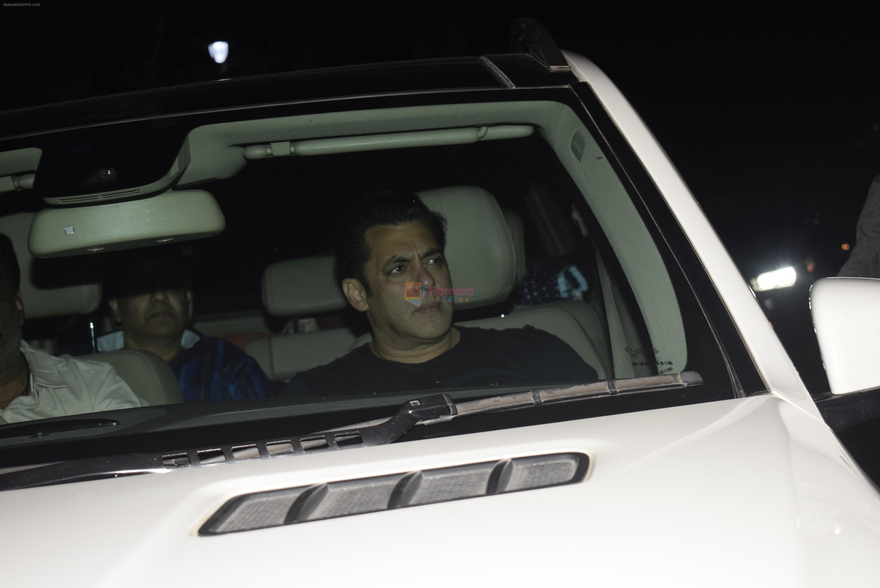 Salman Khan at Bobby Deol's birthday party at his home in juhu on 27th Jan 2019