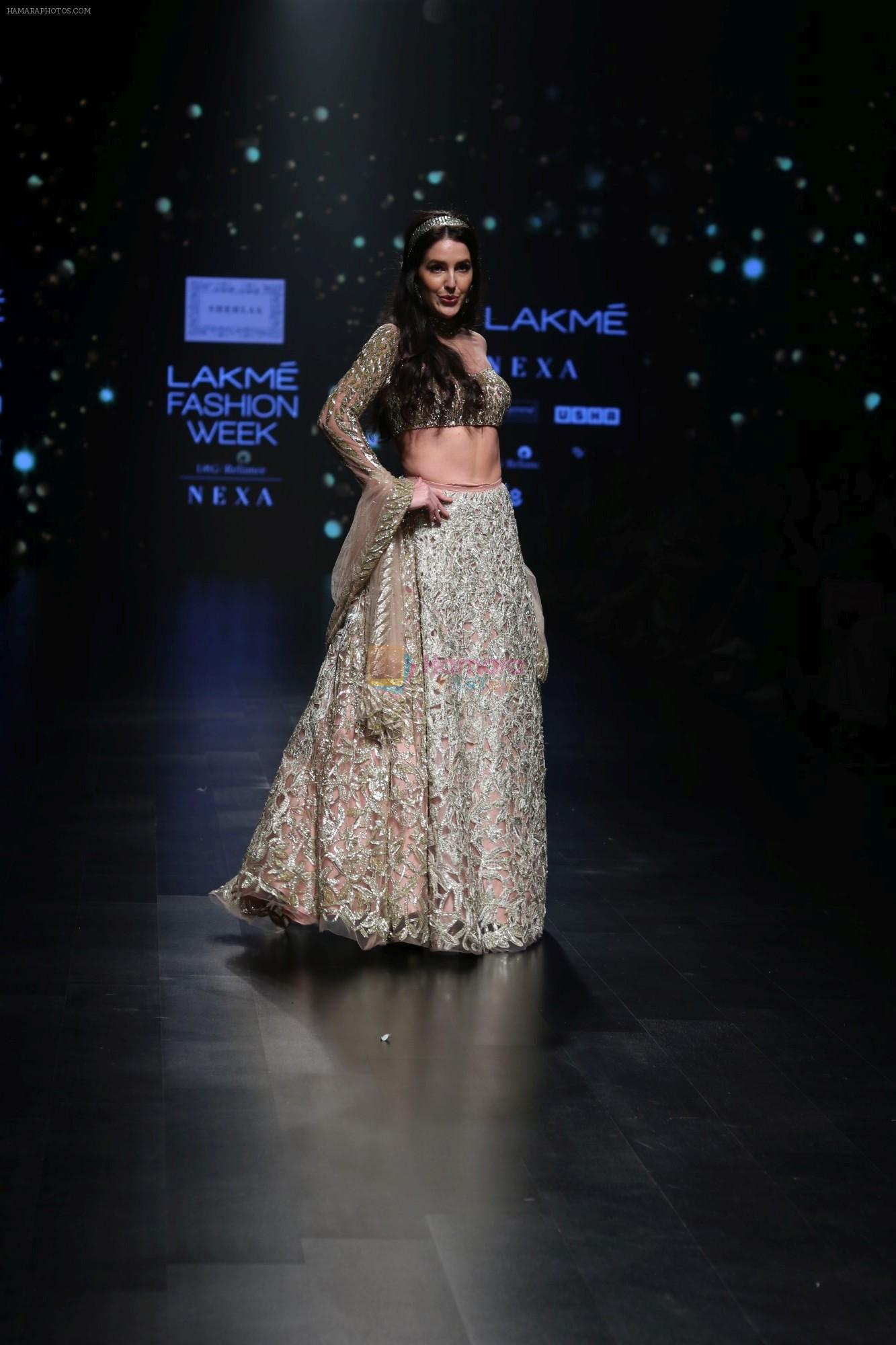 Isabelle Kaif walk the ramp for Shehla Khan at Lakme Fashion Week 2019  on 3rd Feb 2019
