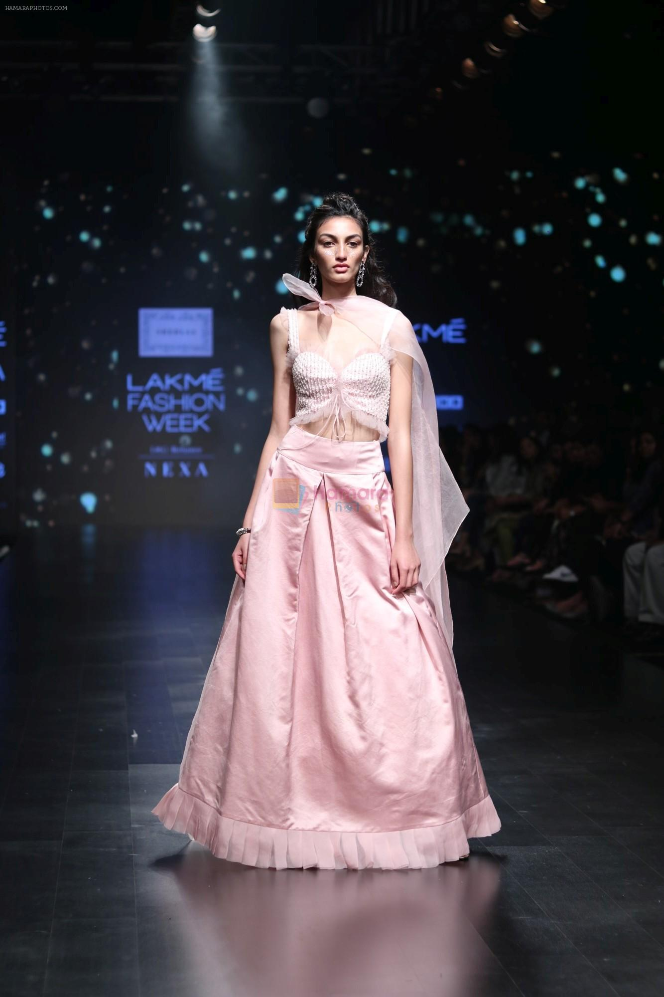 Model walk the ramp for Shehla Khan at Lakme Fashion Week 2019  on 3rd Feb 2019