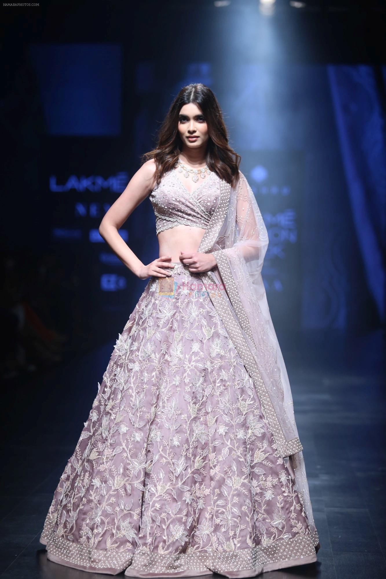 Diana Penty Walk the Ramp for Mishru Show at Lakme Fashion Week 2019 on 1st Feb 2019