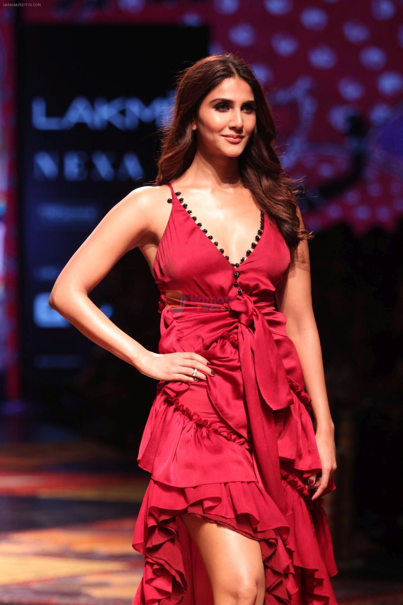 Vaani Kapoor walk the Ramp for Shivan and Narresh at Lakme Fashion Week 2019 on 3rd Feb 2019