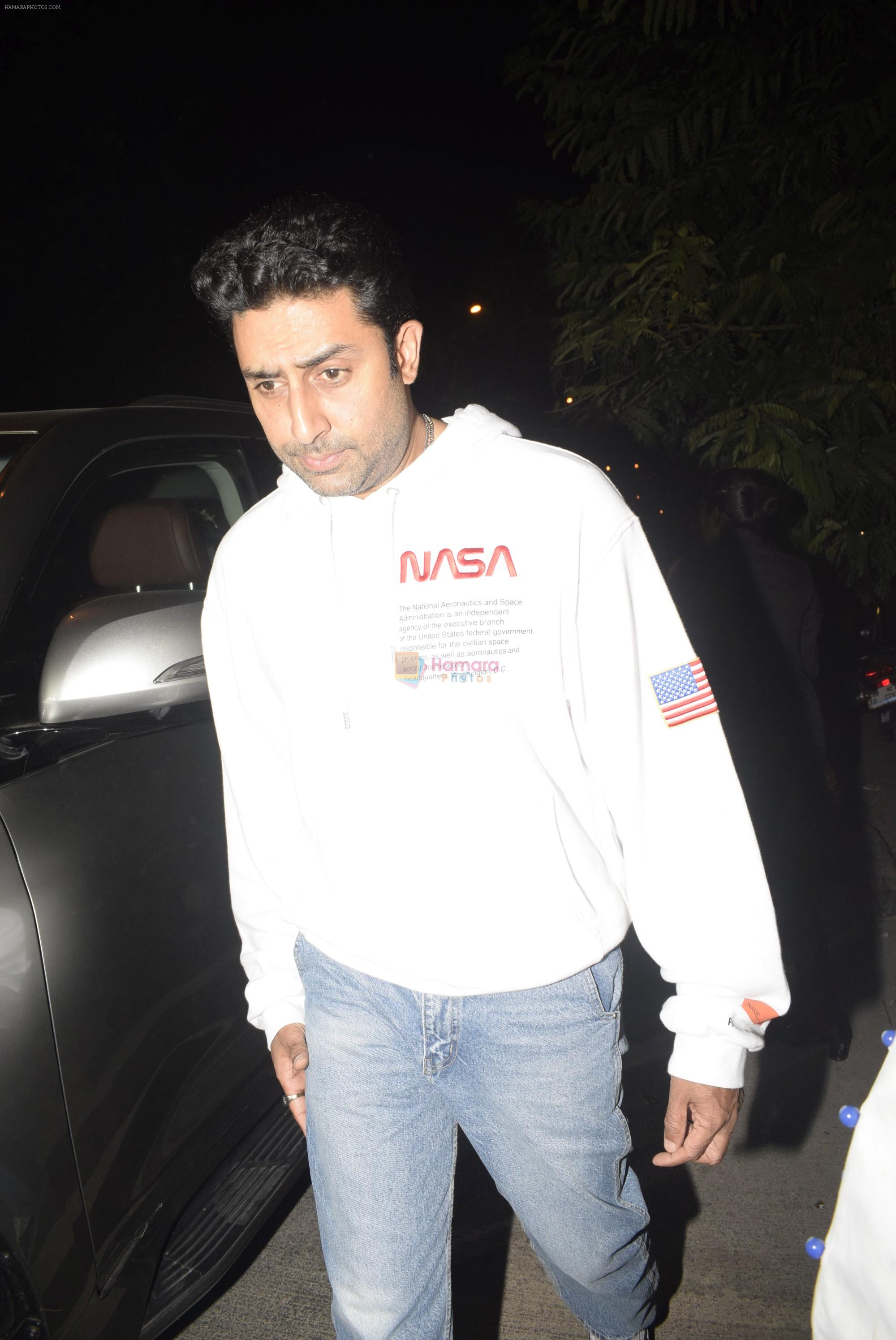 Abhishek Bachchan spotted at bkc post dinner on Abhishek's birthday on 5th Feb 2019