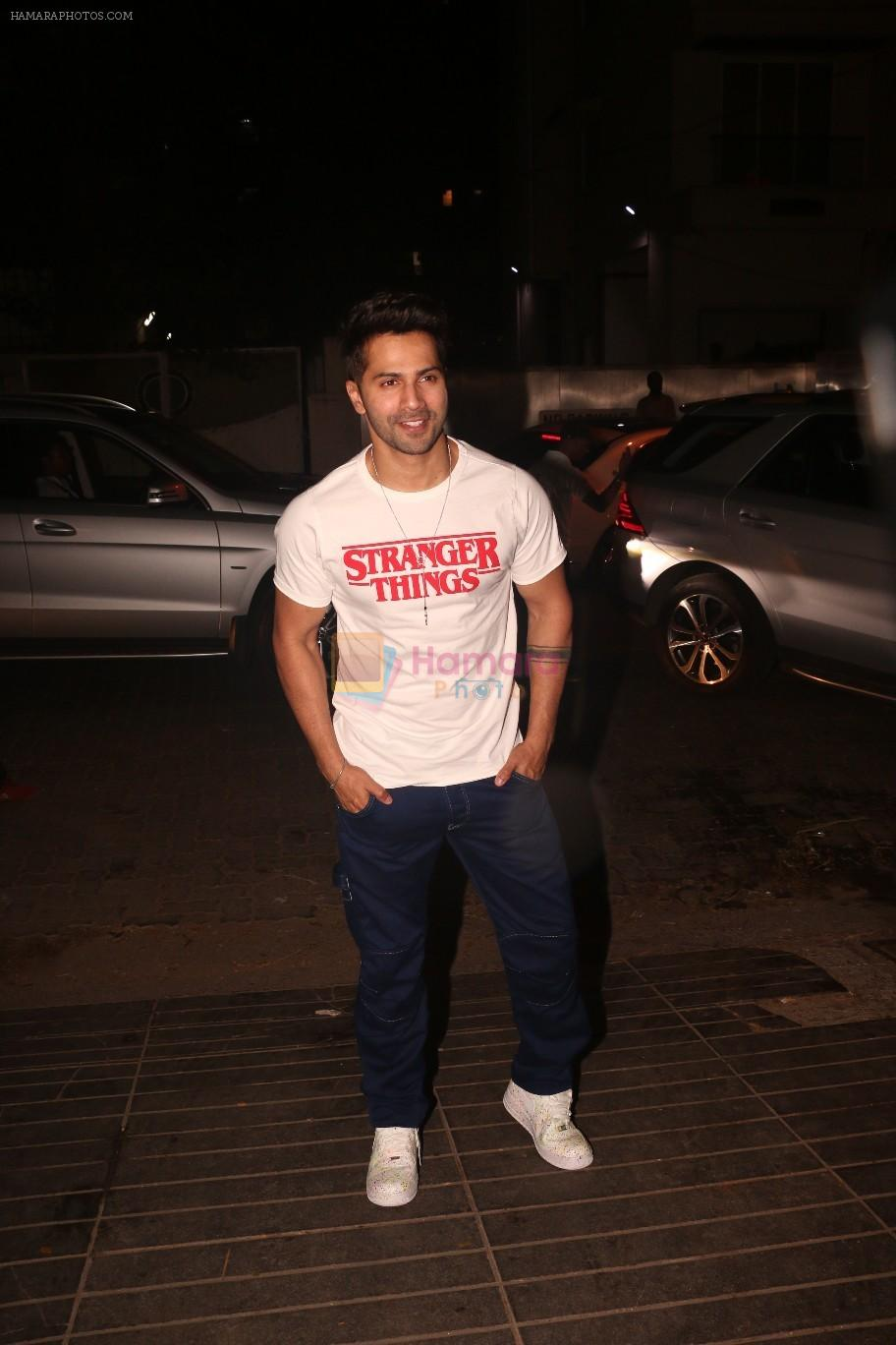 Varun Dhawan at Nora Fatehi's birthday party in bandra on 5th Feb 2019