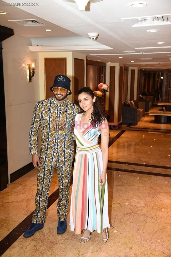 Ranveer Singh and Alia Bhatt spotted at the interviews of Gully boy on 6th Feb 2019