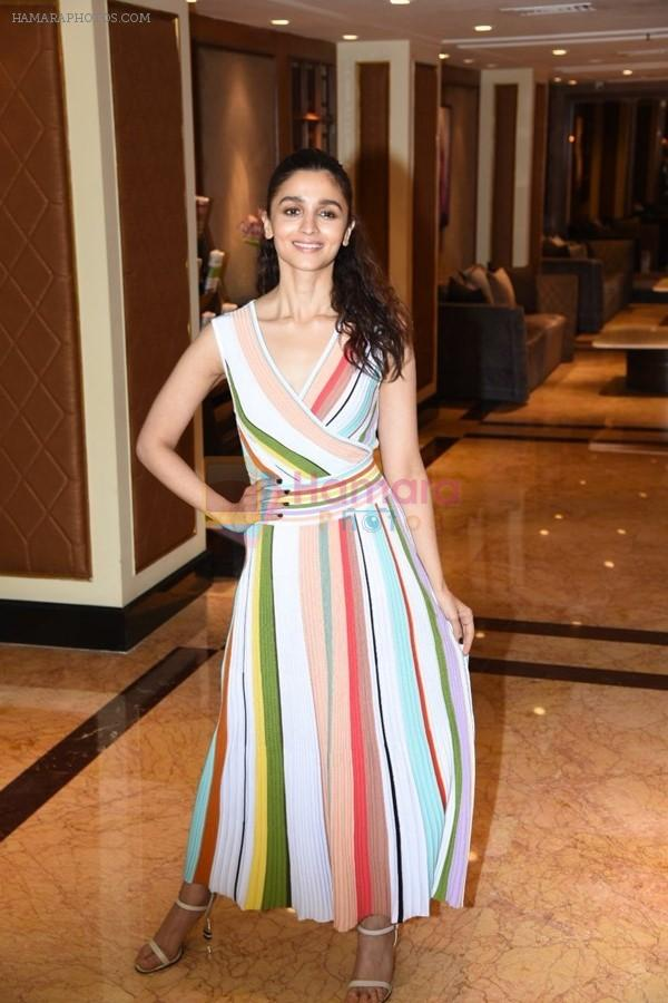 Alia Bhatt spotted at the interviews of Gully boy on 6th Feb 2019