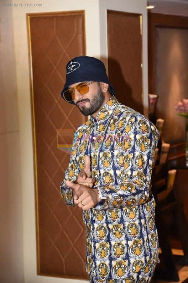 Ranveer Singh spotted at the interviews of Gully boy on 6th Feb 2019